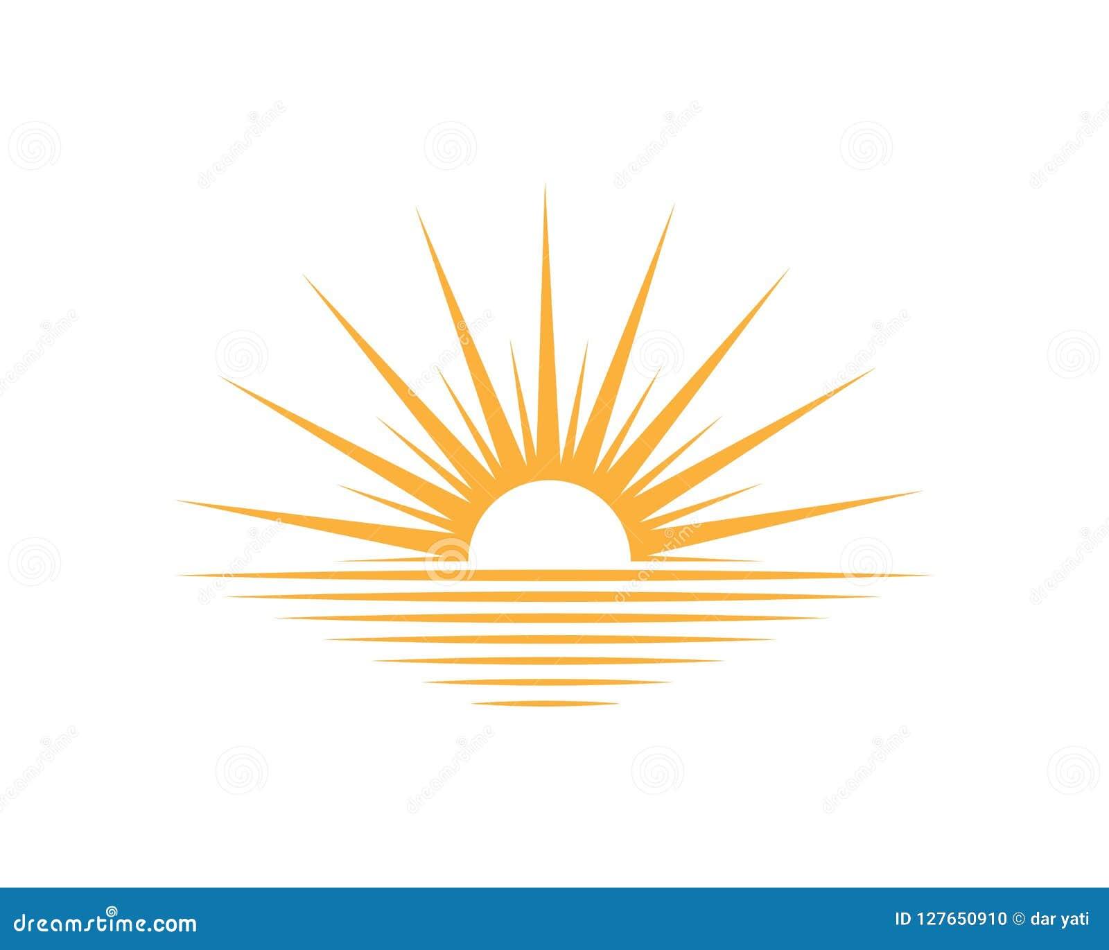 Icono de la luz de logotipo del sol