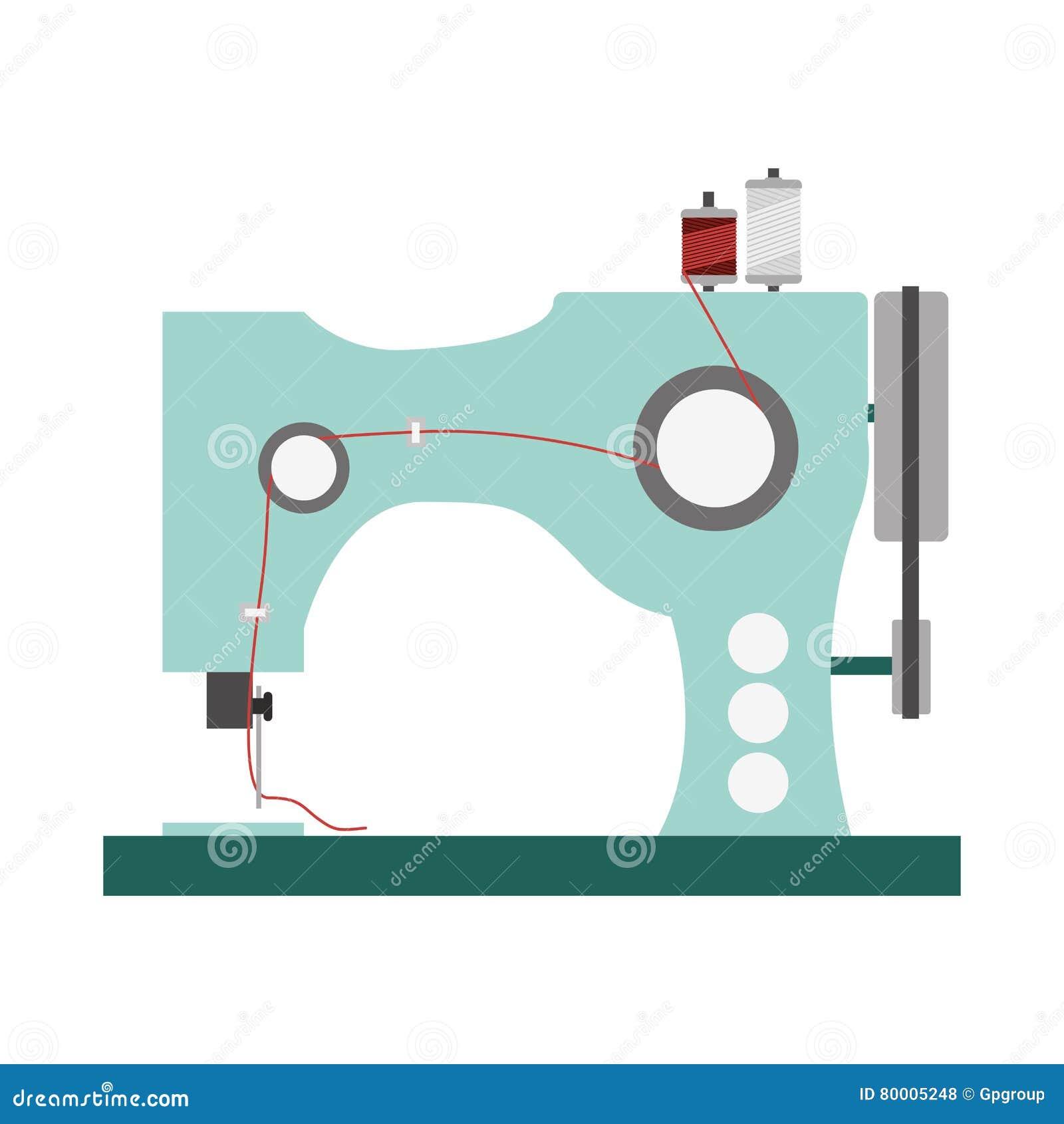 Icono De La Máquina De Coser Ilustración del Vector - Ilustración de ...