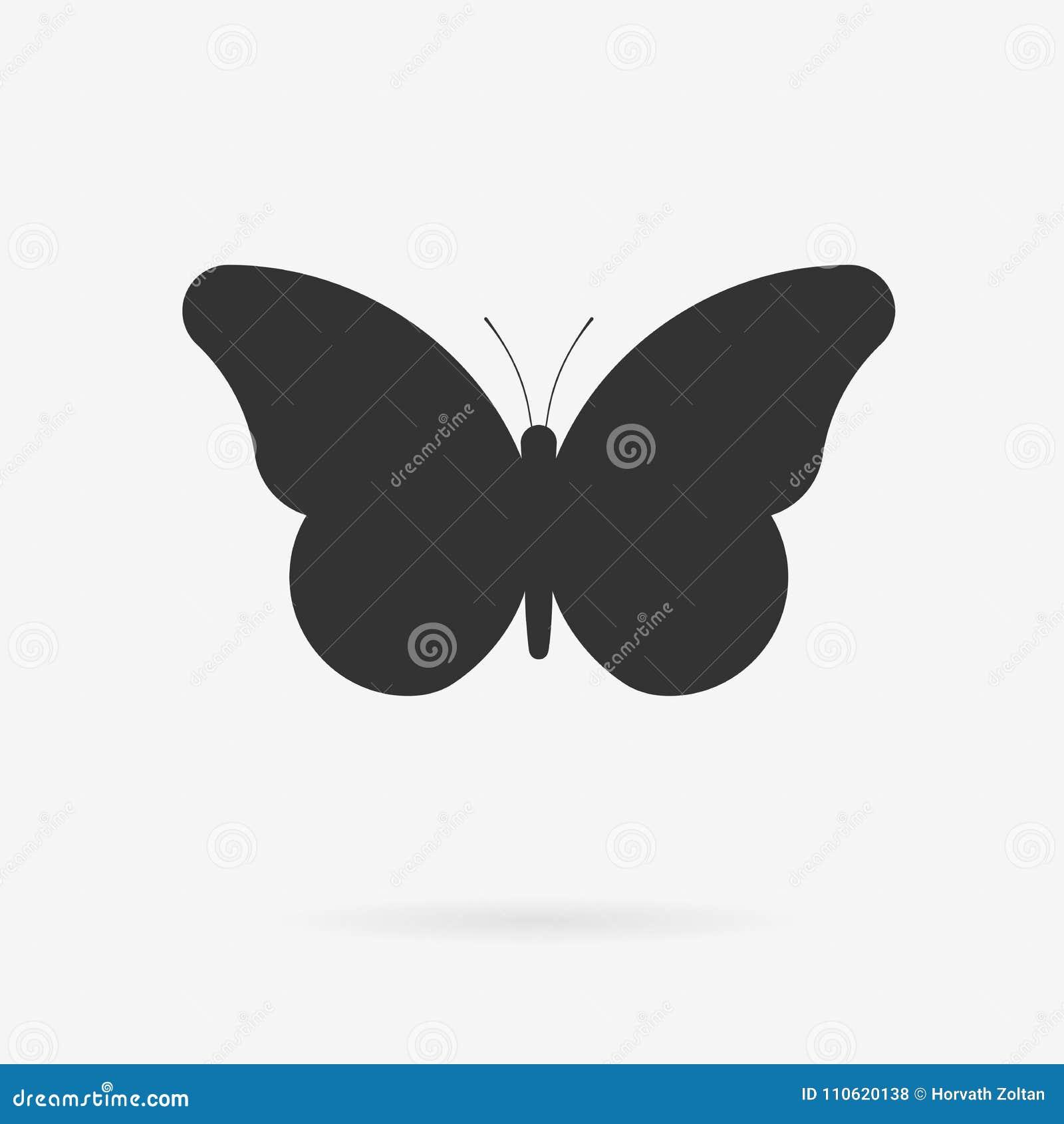 Icono de la mariposa del vector