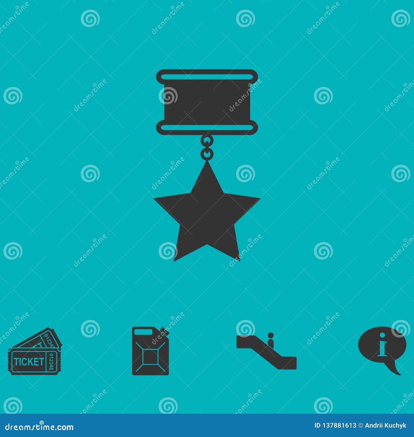 Icono de la medalla plano