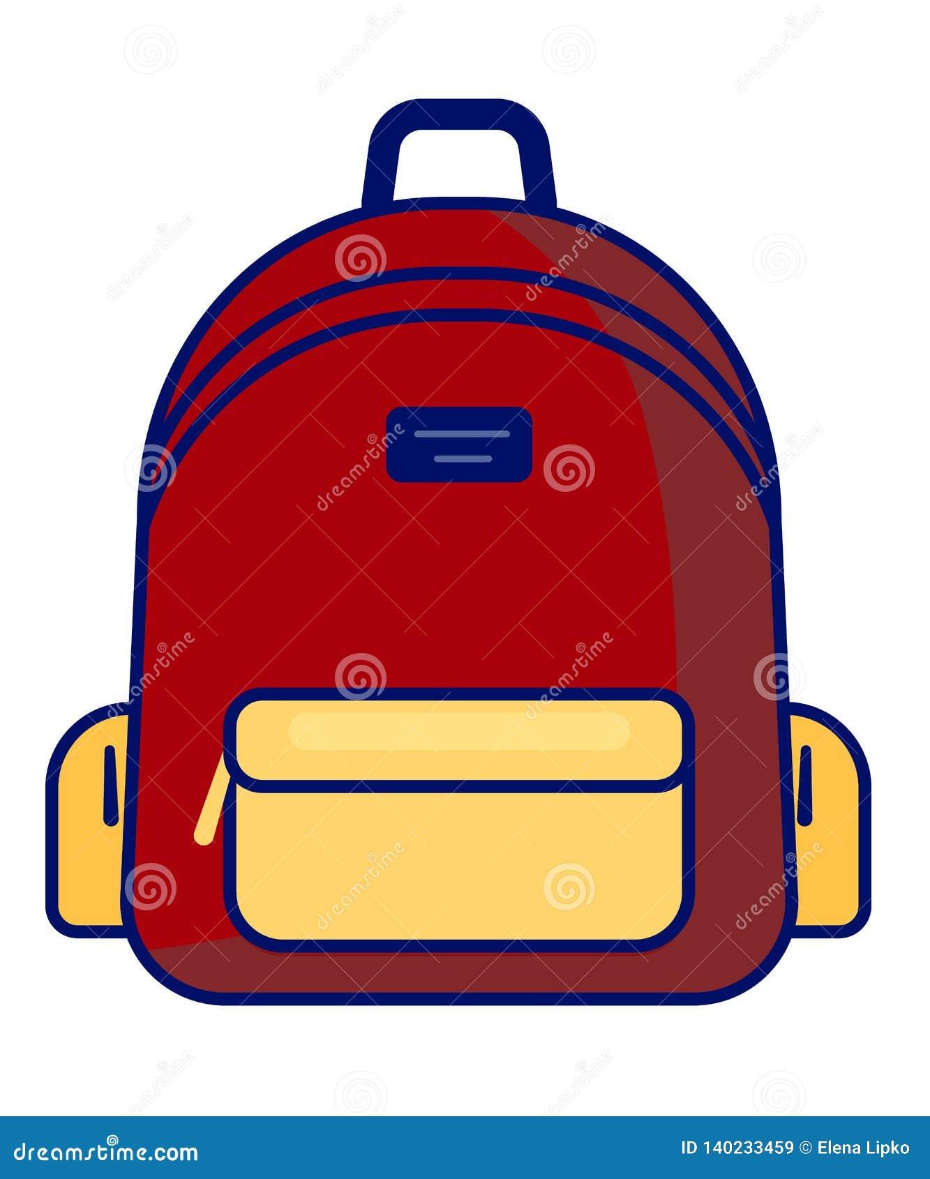 Icono de la mochila - símbolo de la escuela del vector - icono del viaje