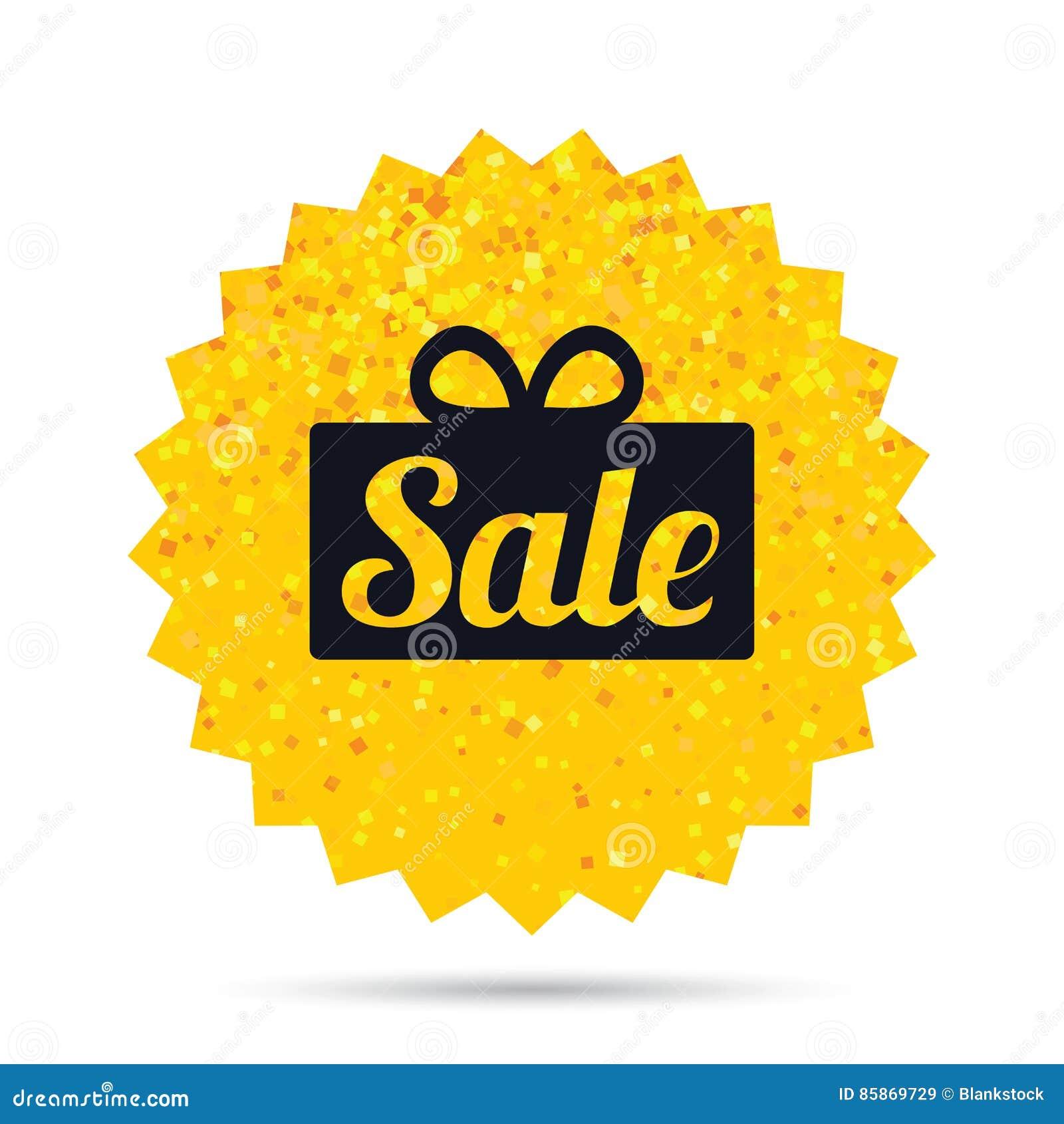 Icono de la muestra del regalo de la venta Símbolo de la oferta especial