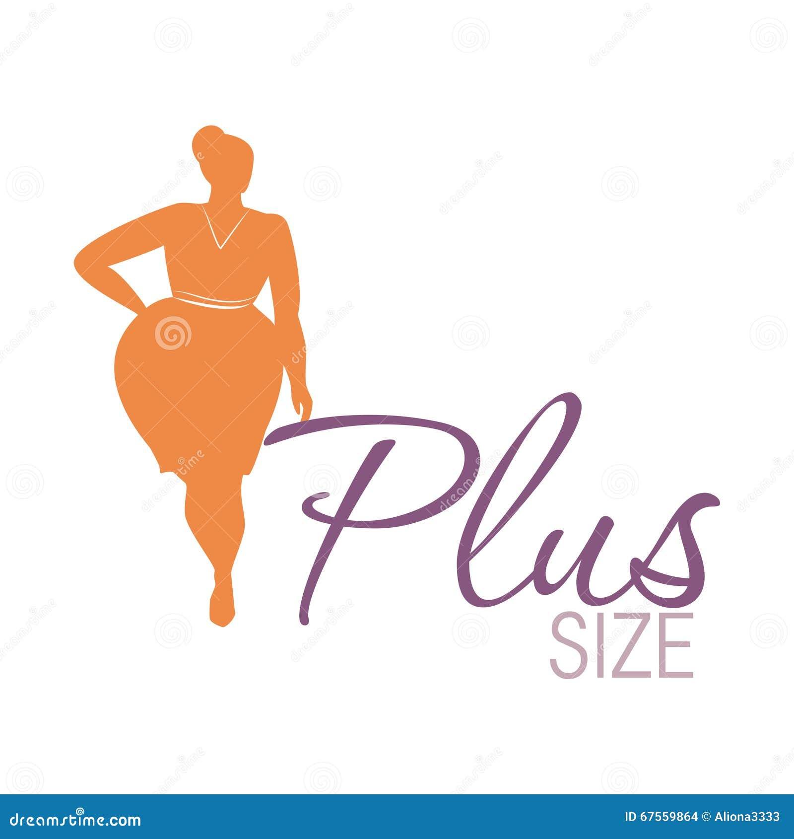 Icono de la mujer del tamaño extra grande