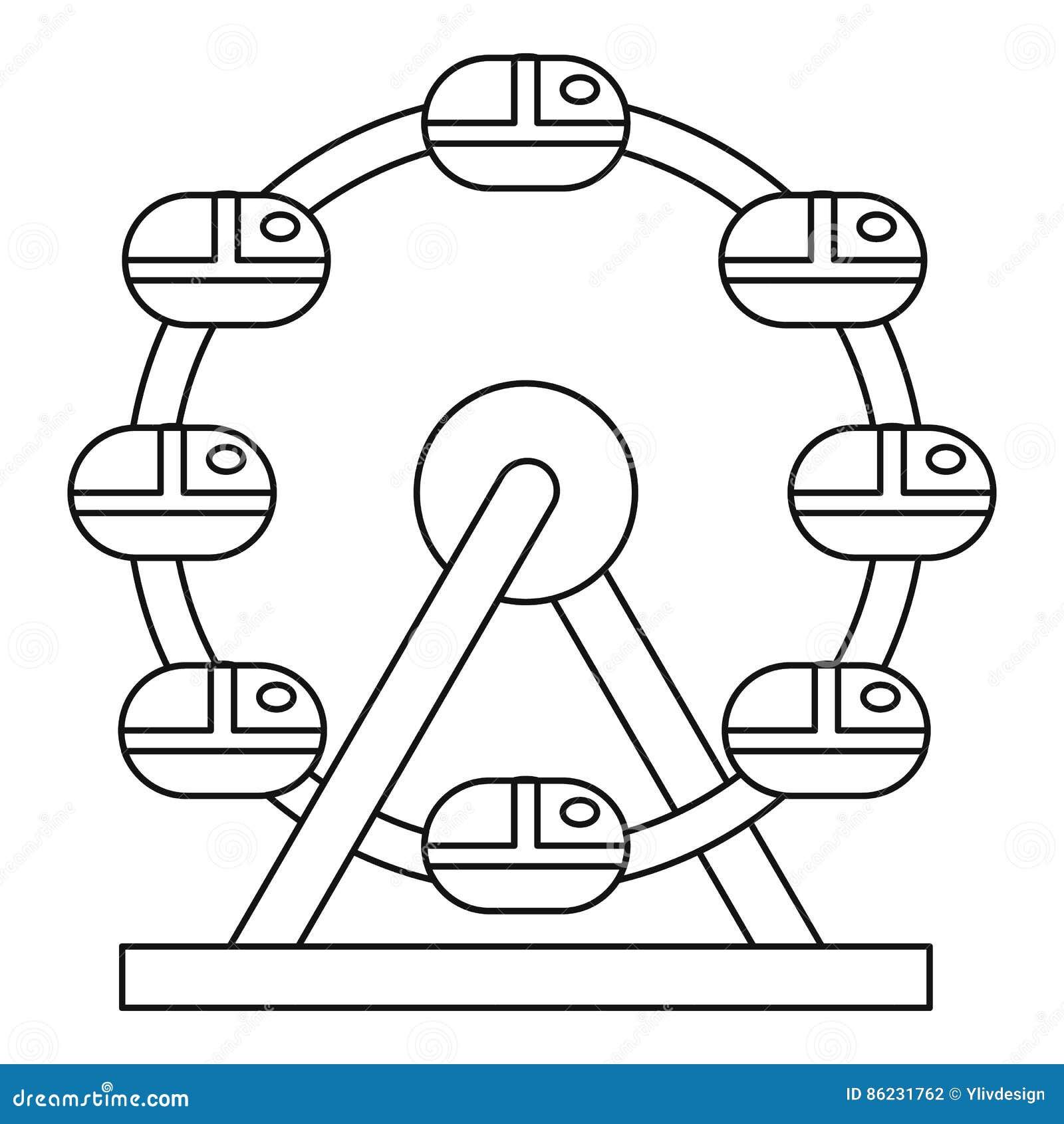 Icono de la noria, estilo del esquema