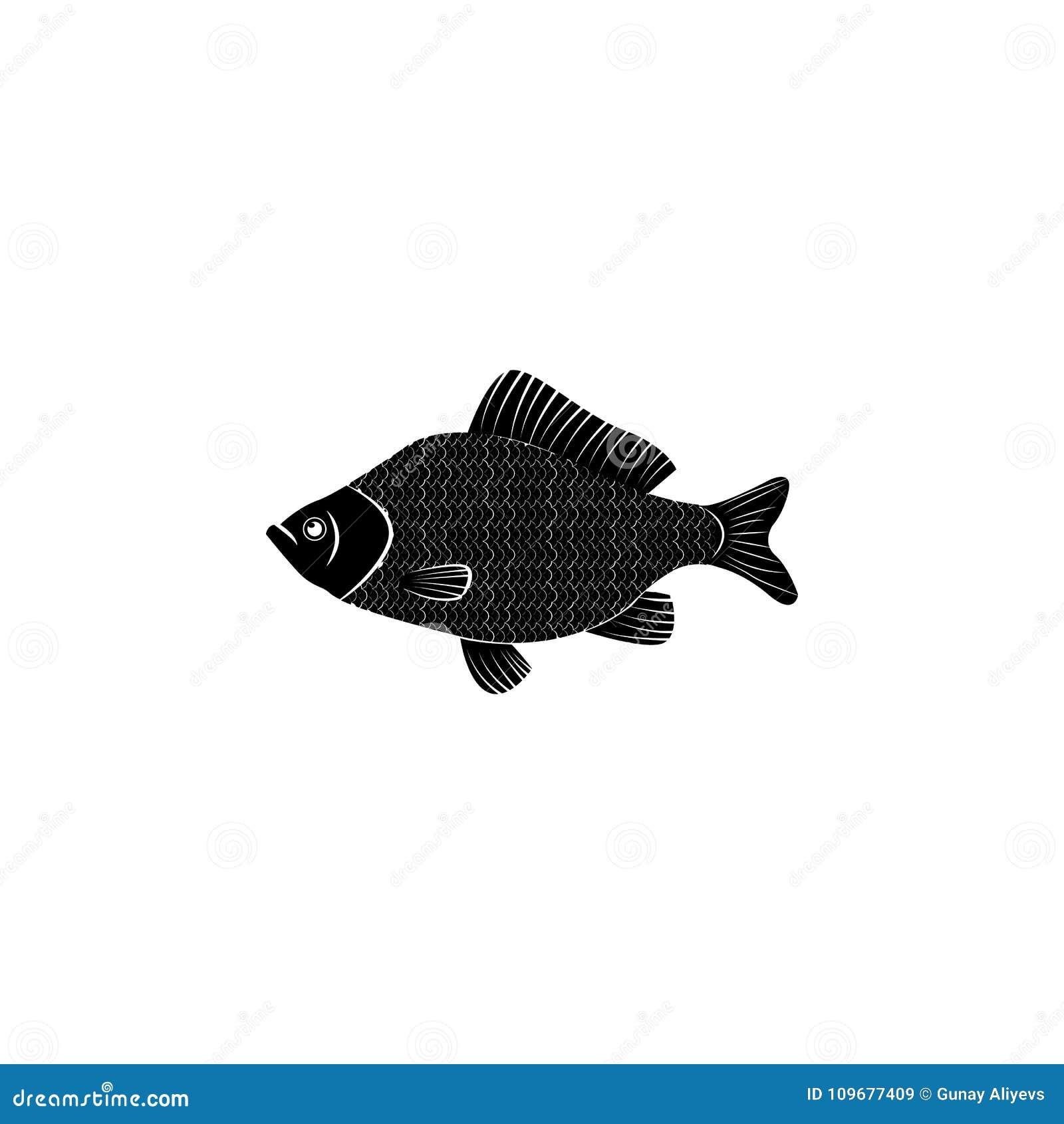 Icono De La Perca Elementos De Los Productos De Los Pescados Y Del ...