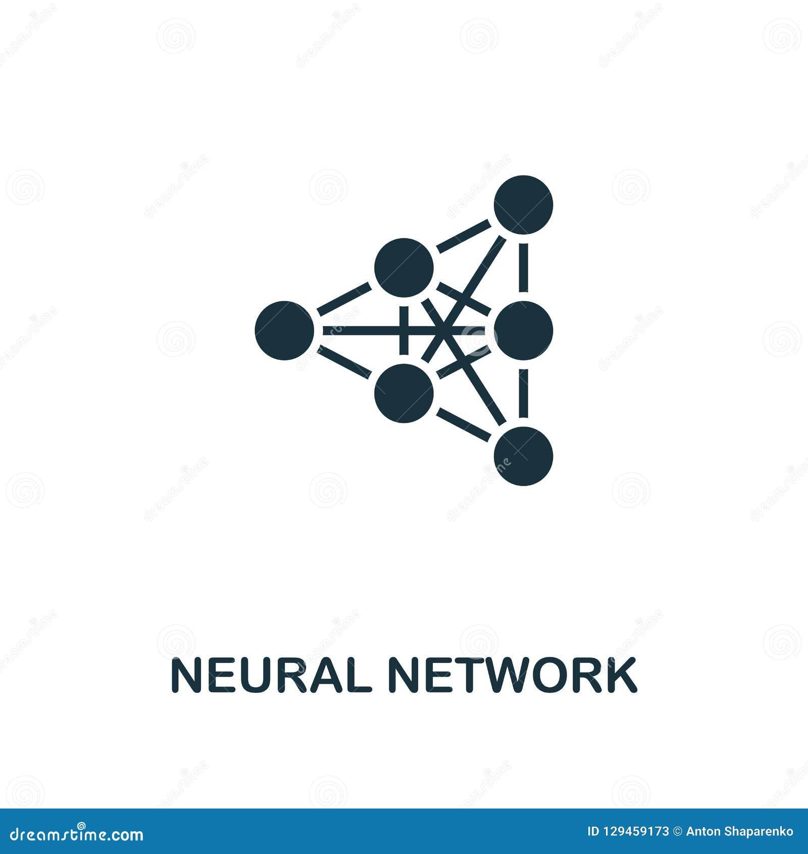 Icono de la red neuronal Diseño superior del estilo de la colección del icono de la inteligencia artificial UI y UX Red neuronal