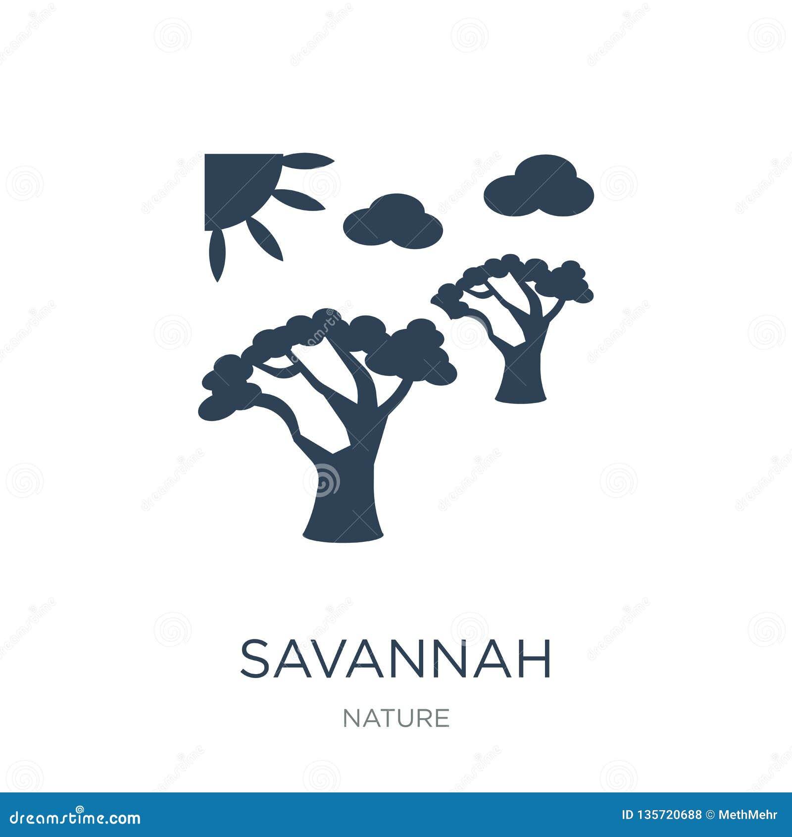 Icono de la sabana en estilo de moda del diseño icono de la sabana aislado en el fondo blanco plano simple y moderno del icono de