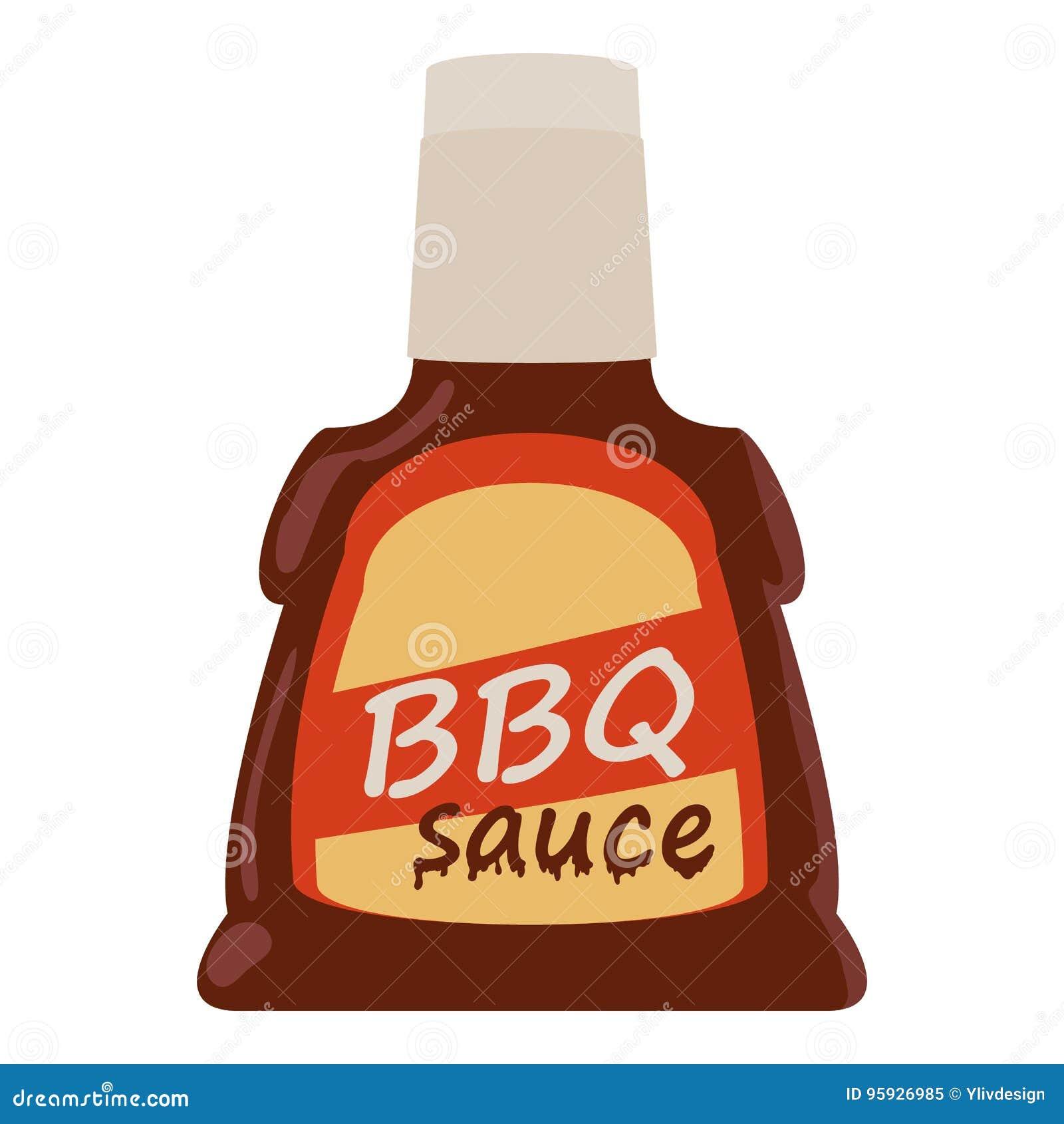 Icono de la salsa de barbacoa, estilo de la historieta
