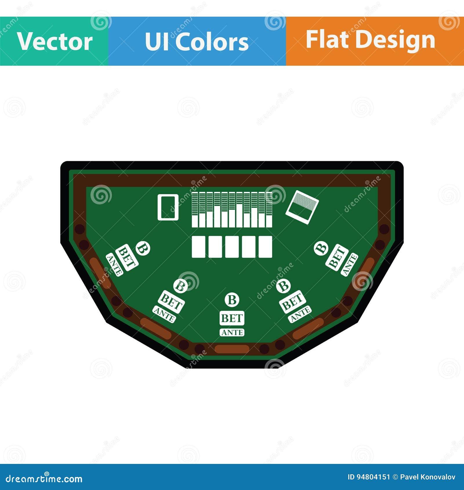 Icono de la tabla del póker