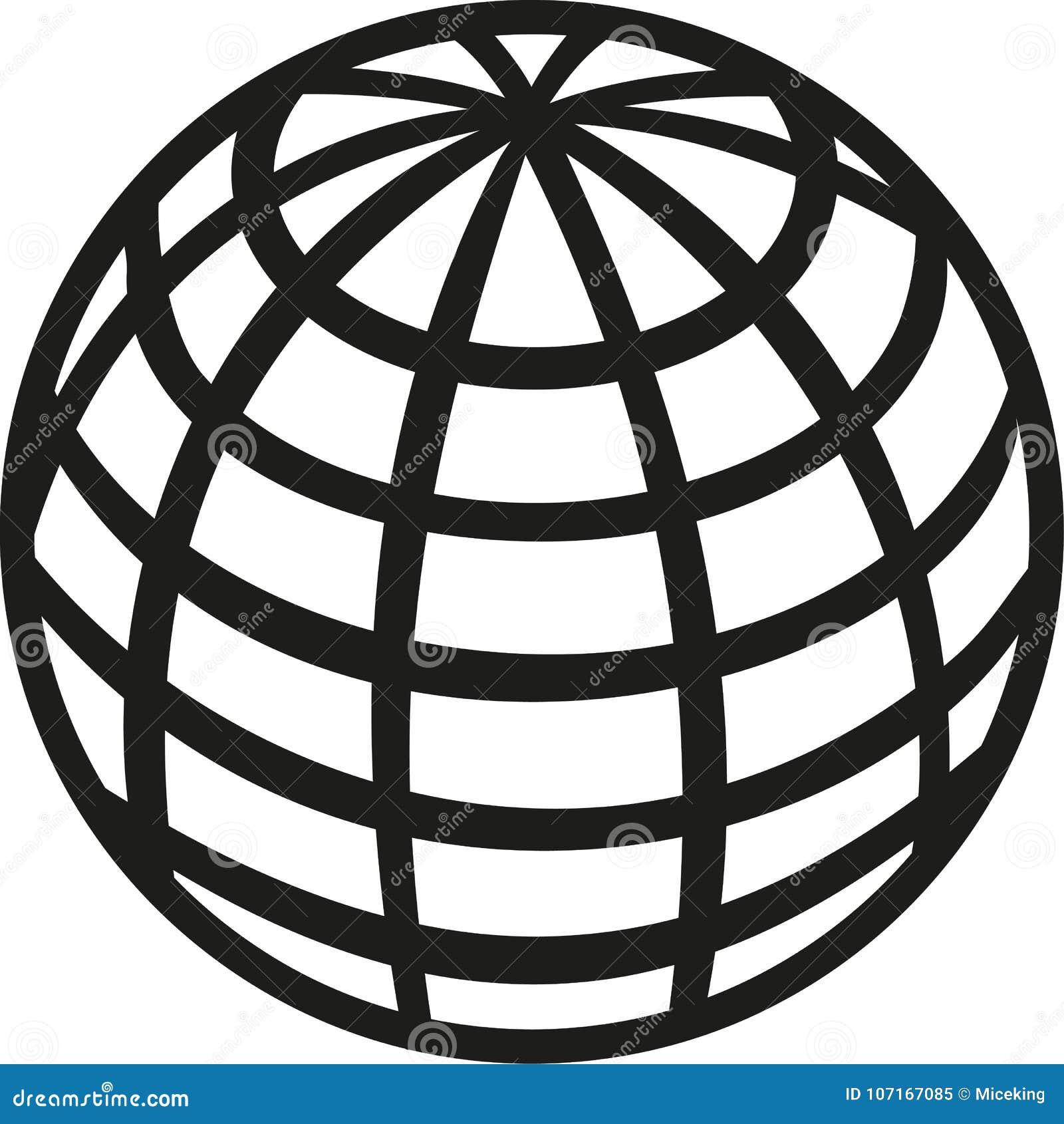 Icono de la tierra del planeta del globo