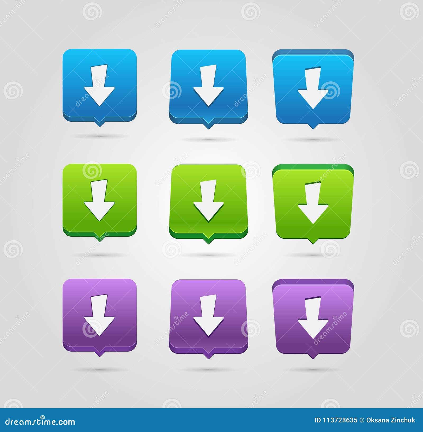 Icono de la transferencia directa Botón de la carga por teletratamiento Símbolo de la carga Botones redondeados de los cuadrados