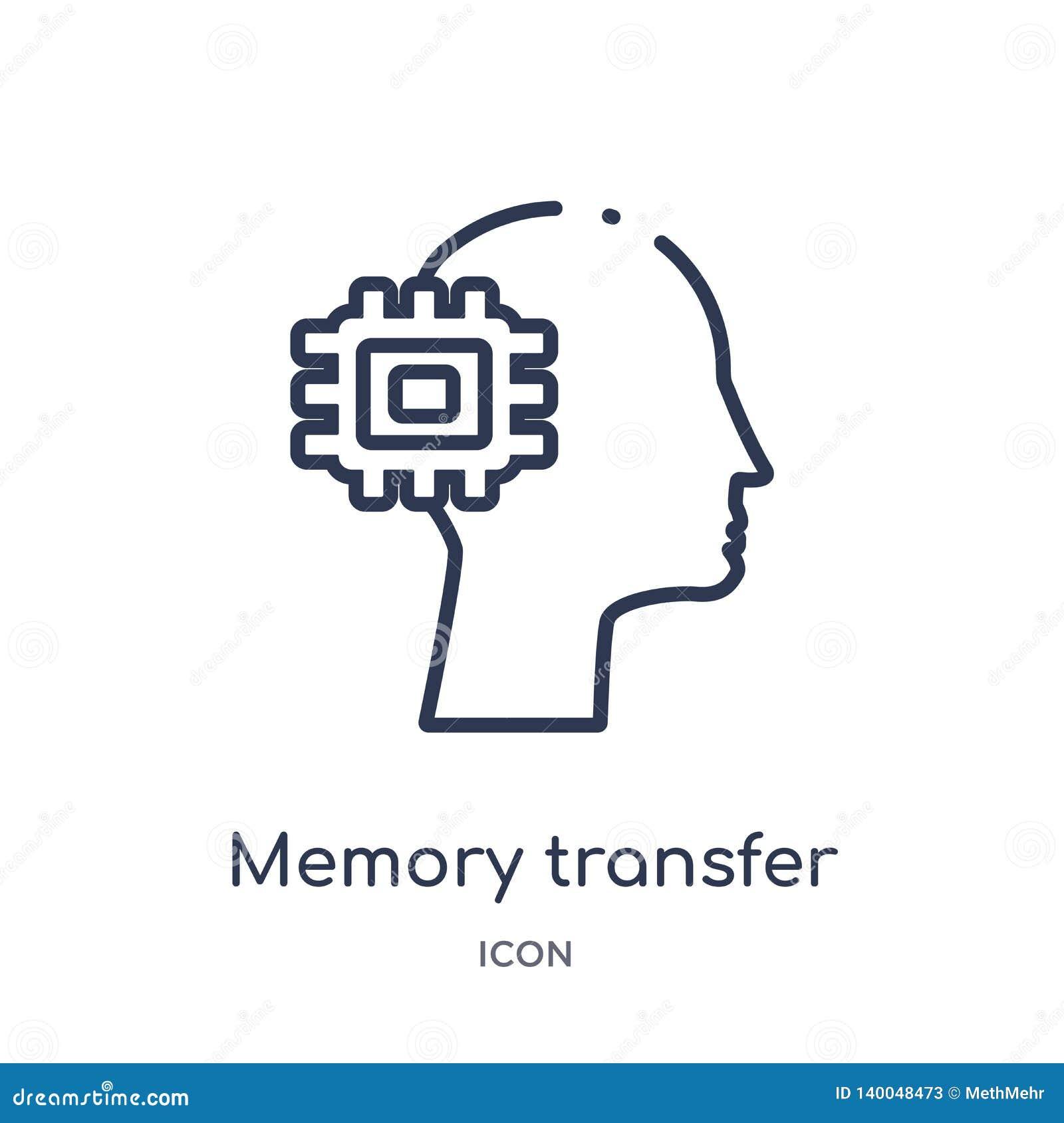 Icono de la transferencia de la memoria linear del intellegence artificial y de la colección futura del esquema de la tecnología