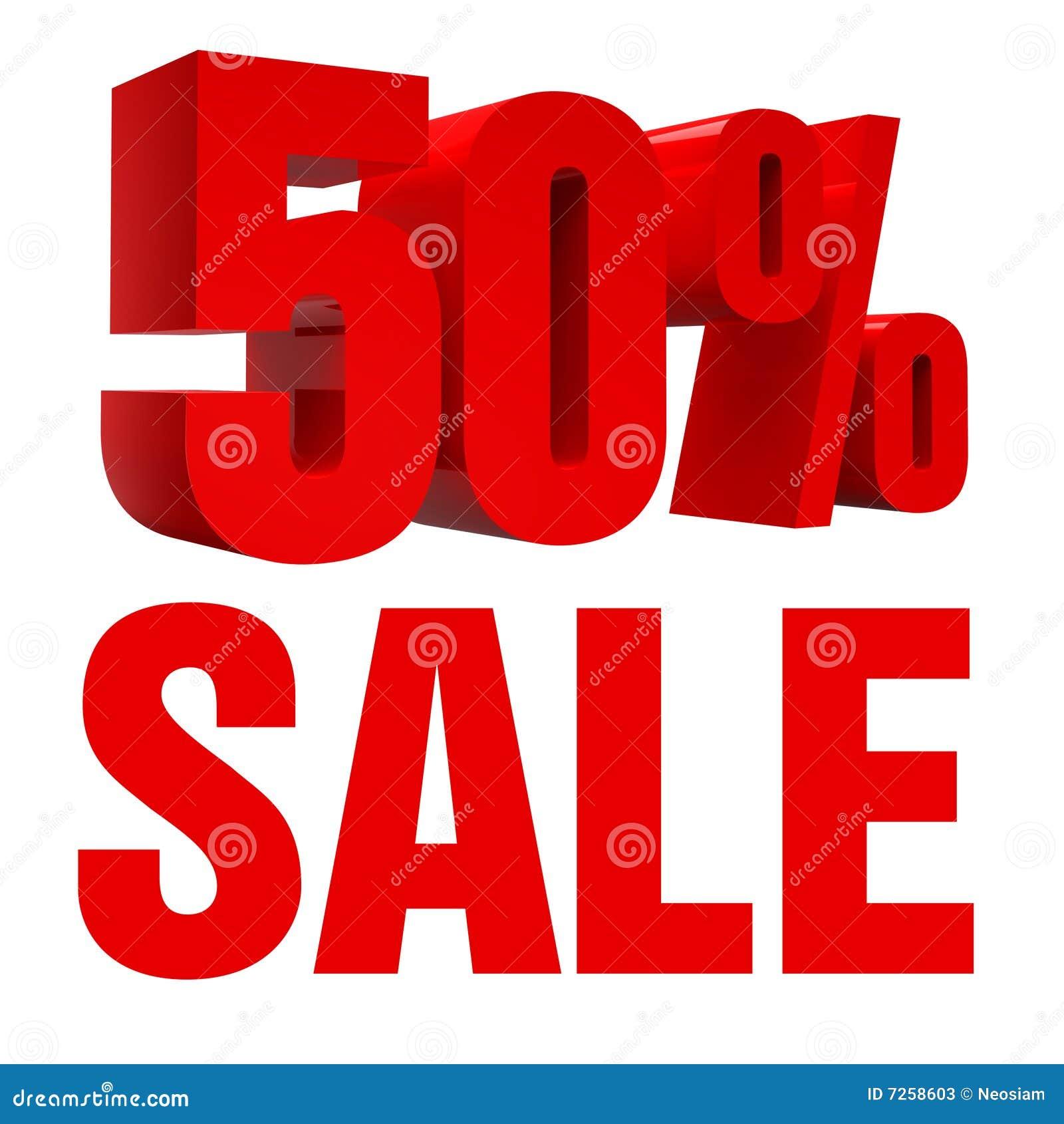 Icono de la venta el 50