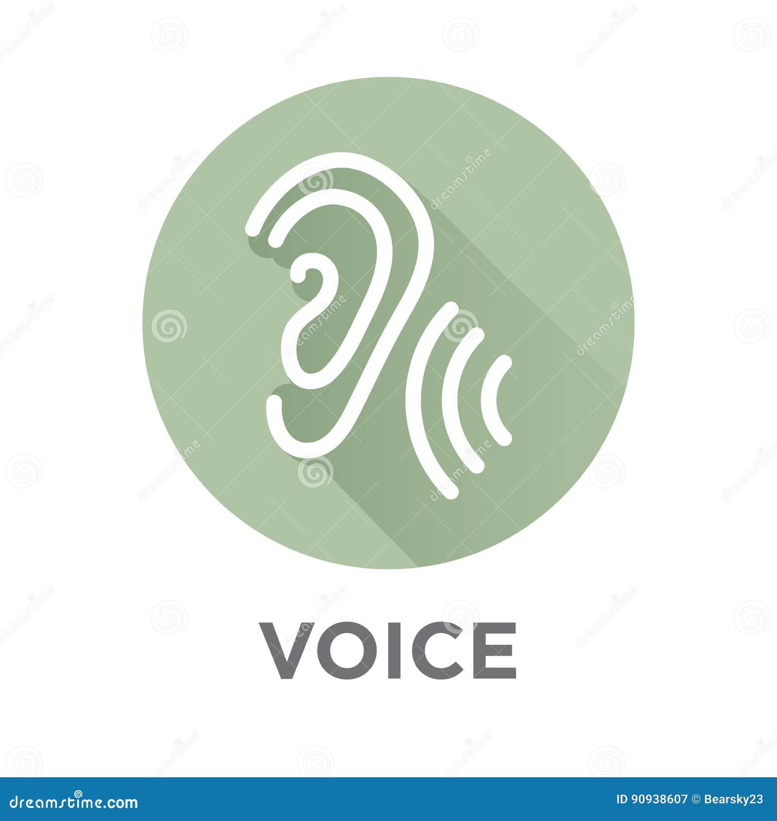 Icono de la voz superpuesta o del control por voz con imágenes de la onda acústica