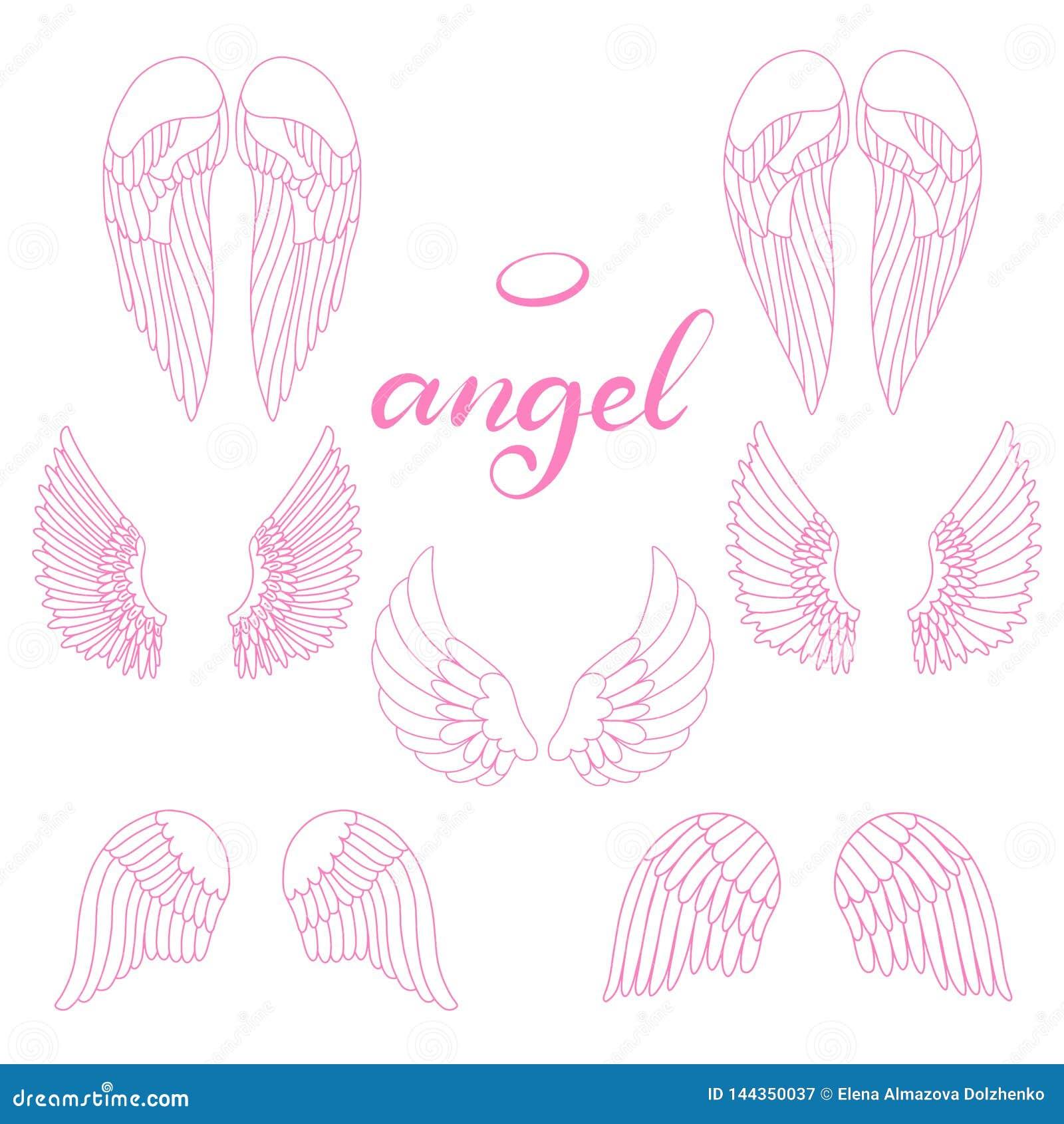 Icono de las alas del ?ngel con la mano que pone letras a ?ngel de la palabra