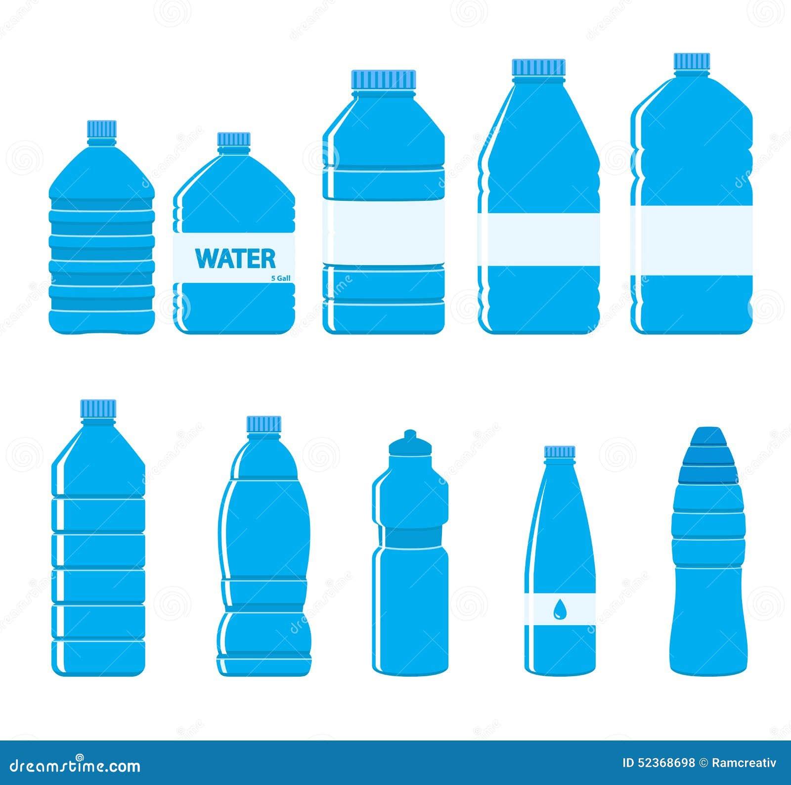 icono de las botellas del plstico fijado en el fondo blanco ilustracin del vector