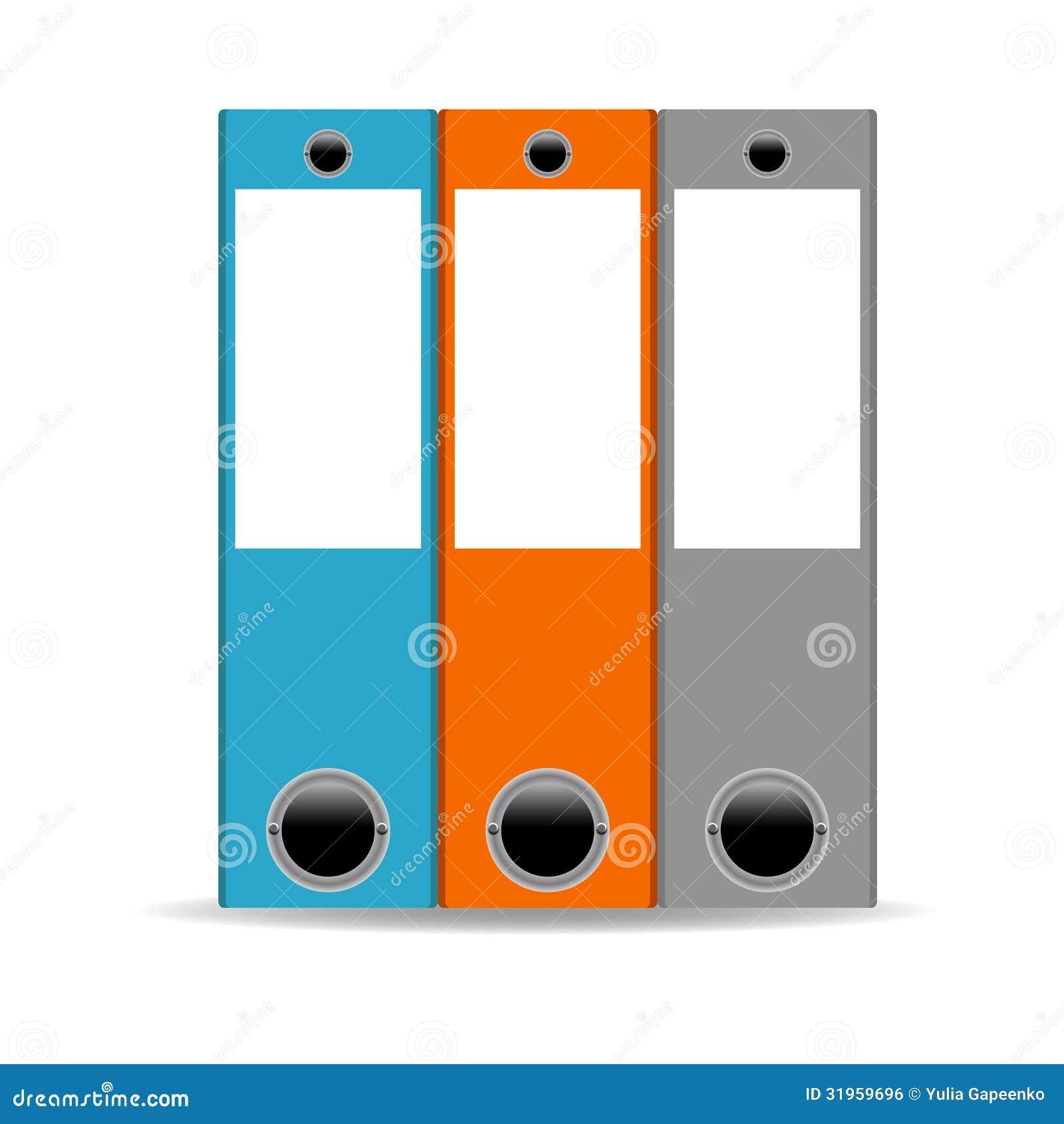 Icono de las carpetas de la oficina ejemplo del vector for Carpetas para oficina