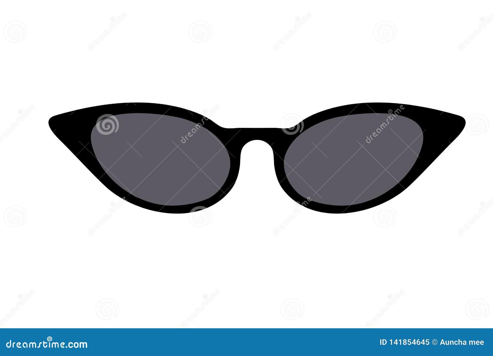 talla 40 ee0b8 cdeb4 Icono De Las Gafas De Sol Del Ojo De Gato En El Fondo Blanco ...