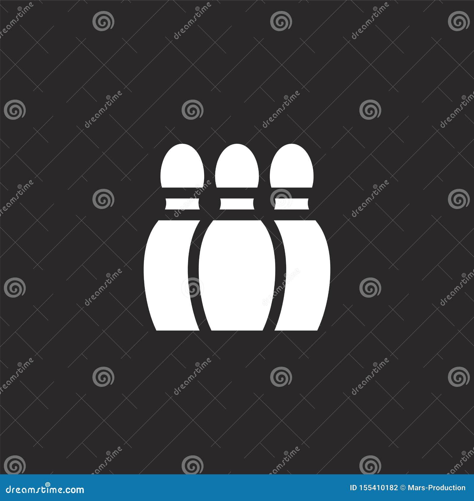 Icono de los bolos Icono que rueda llenado para el diseño y el móvil, desarrollo de la página web del app icono que rueda de afic