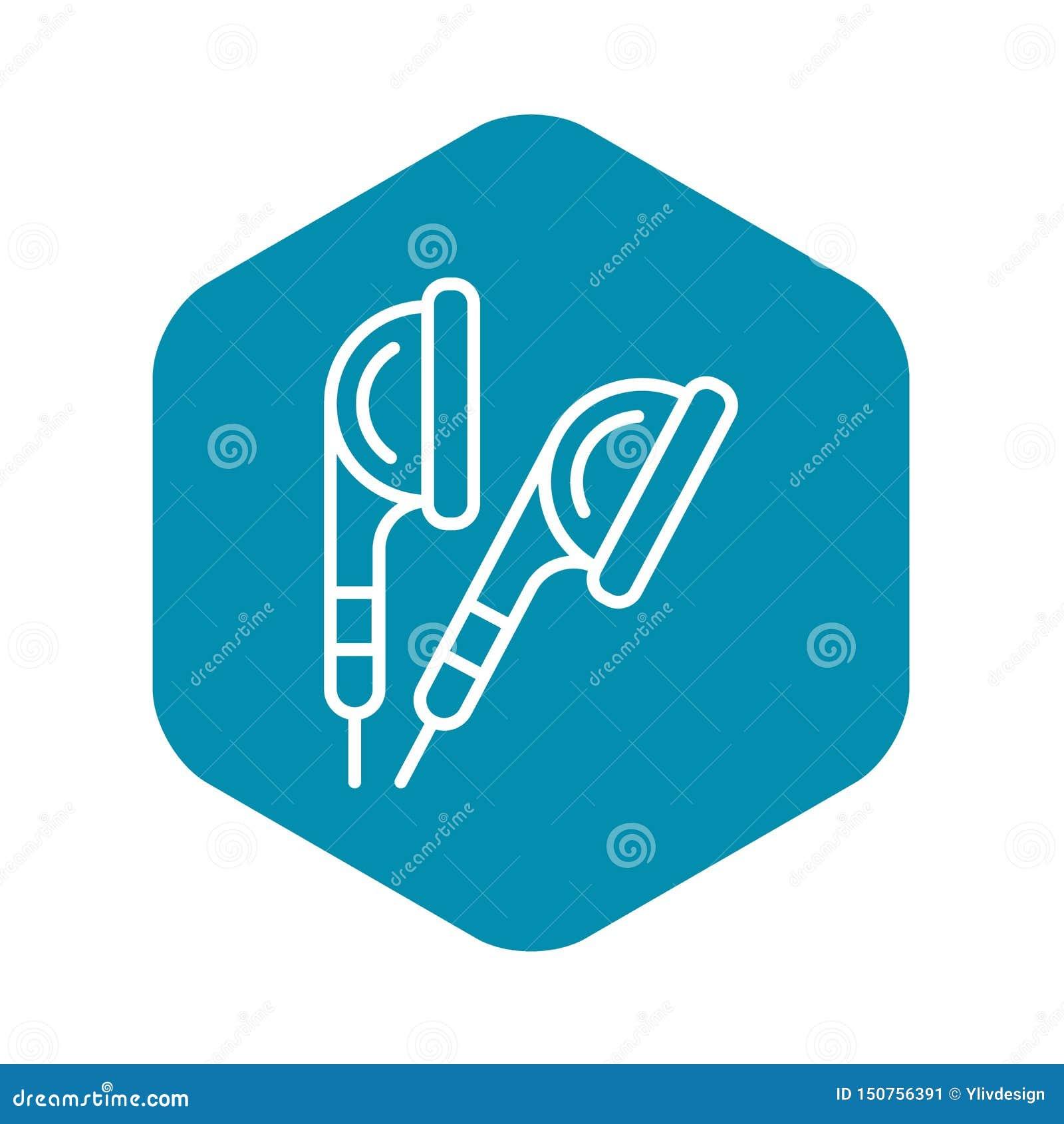 Icono de los botones de o?do, estilo del esquema