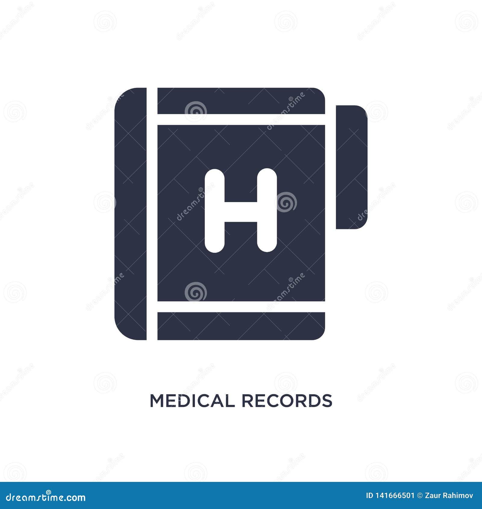 Icono de los informes médicos en el fondo blanco Ejemplo simple del elemento del concepto médico
