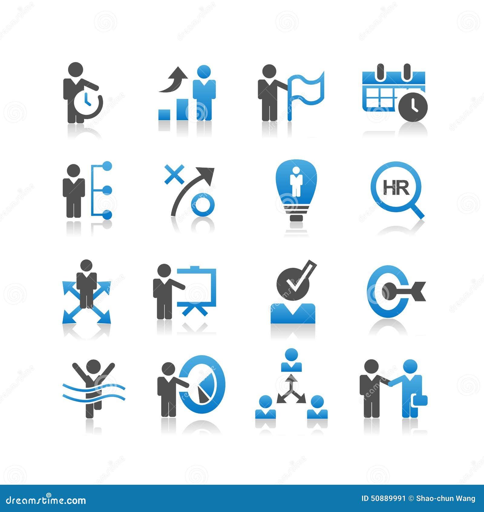 Icono de los recursos humanos del negocio