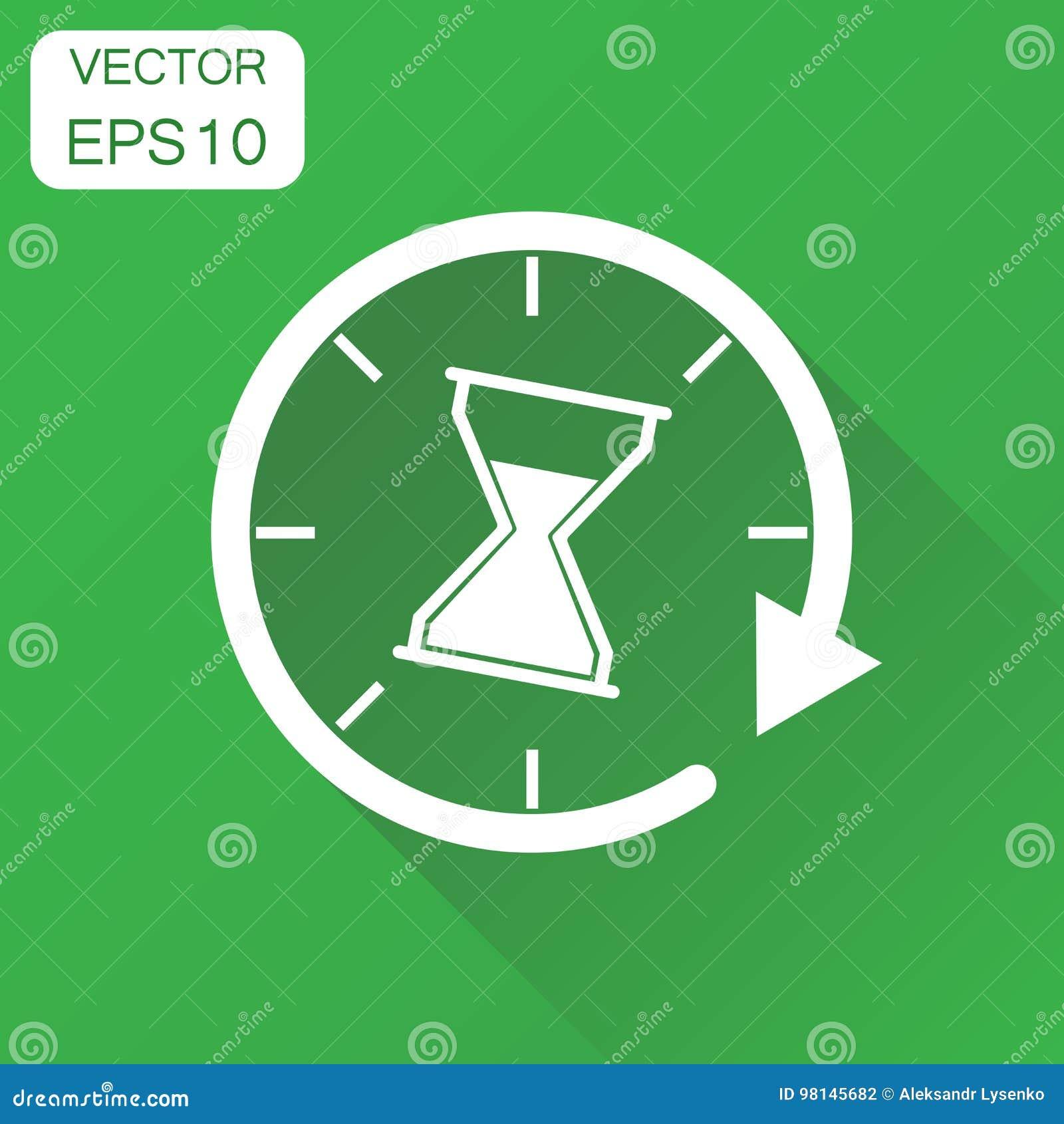 Icono de los sandglass del tiempo Pictograma del reloj de arena del reloj del concepto del negocio