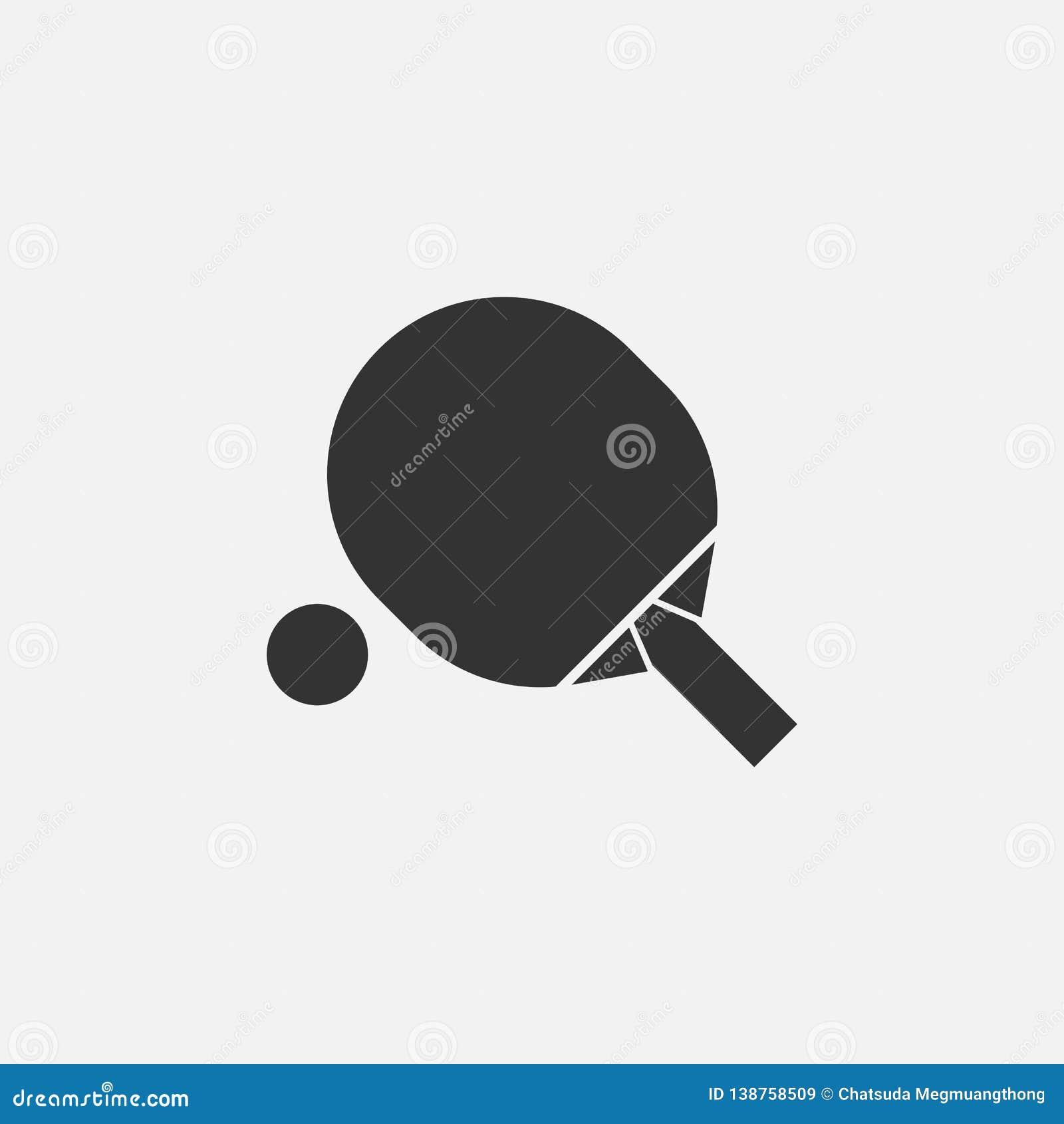 Icono de los tenis de mesa, deporte, ping-pong, juego