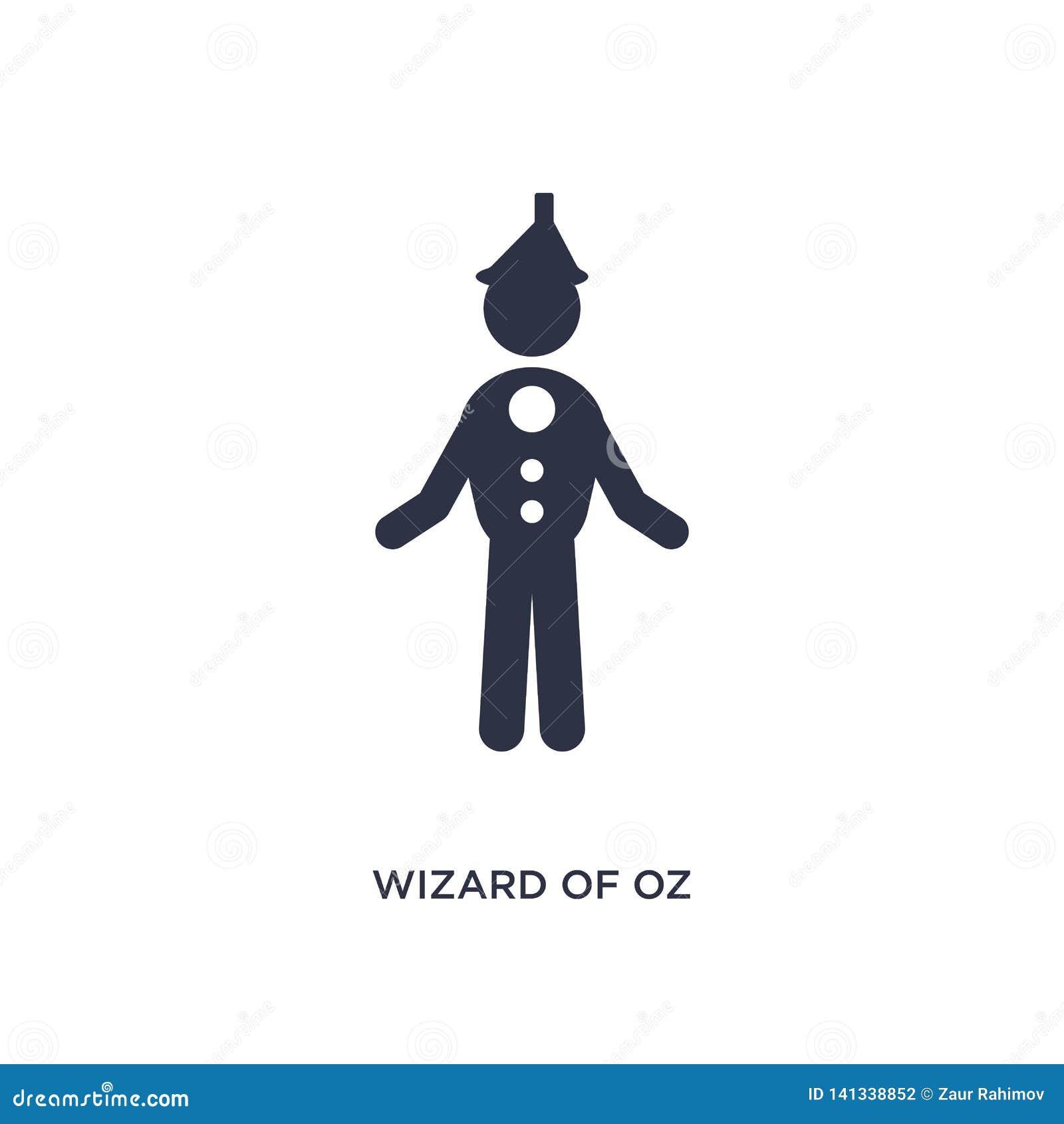 Icono de mago de Oz en el fondo blanco Ejemplo simple del elemento del concepto de la literatura