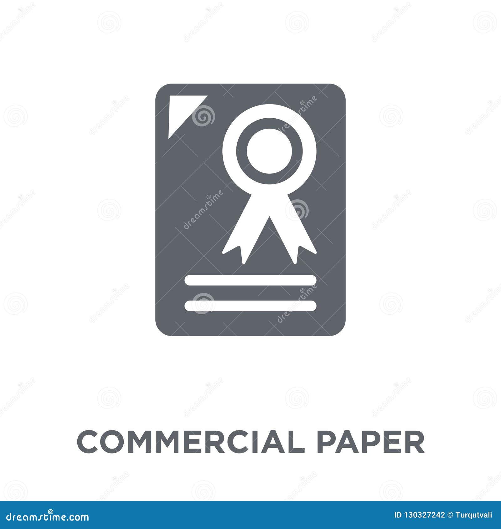 Icono de papel comercial de la colección de papel comercial