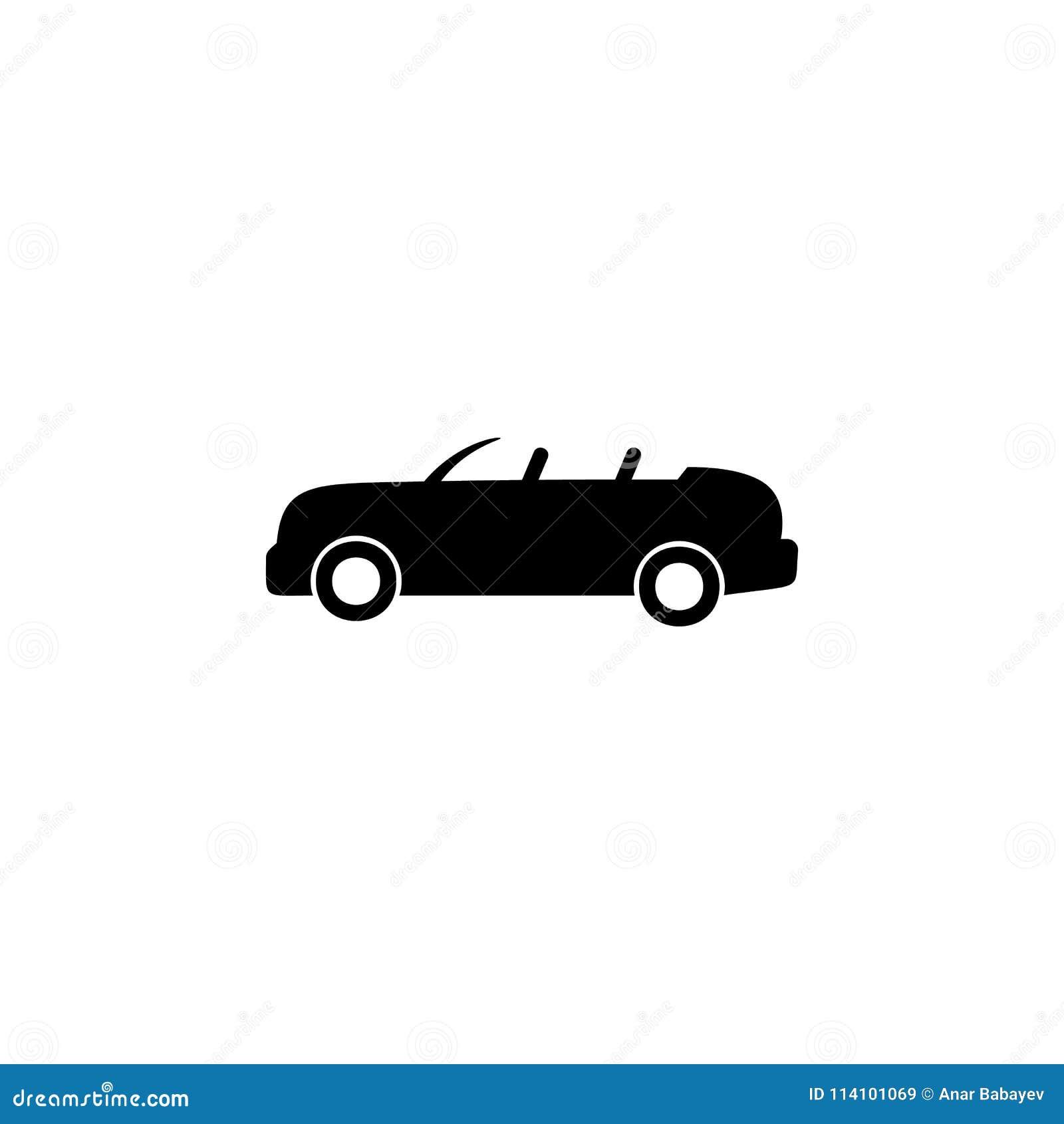 Icono de parte superior abierta del coche Elemento del tipo icono del coche Icono superior del diseño gráfico de la calidad Muest