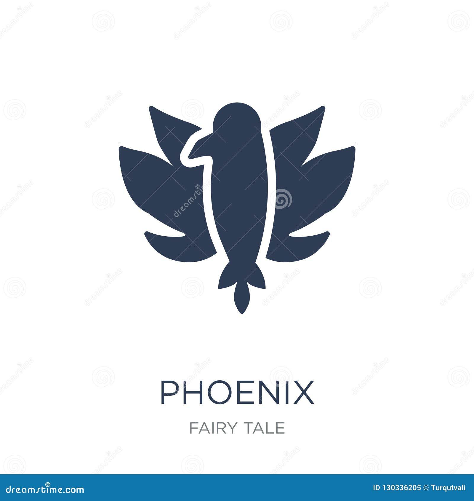 Icono de Phoenix Icono plano de moda de Phoenix del vector en el backgroun blanco