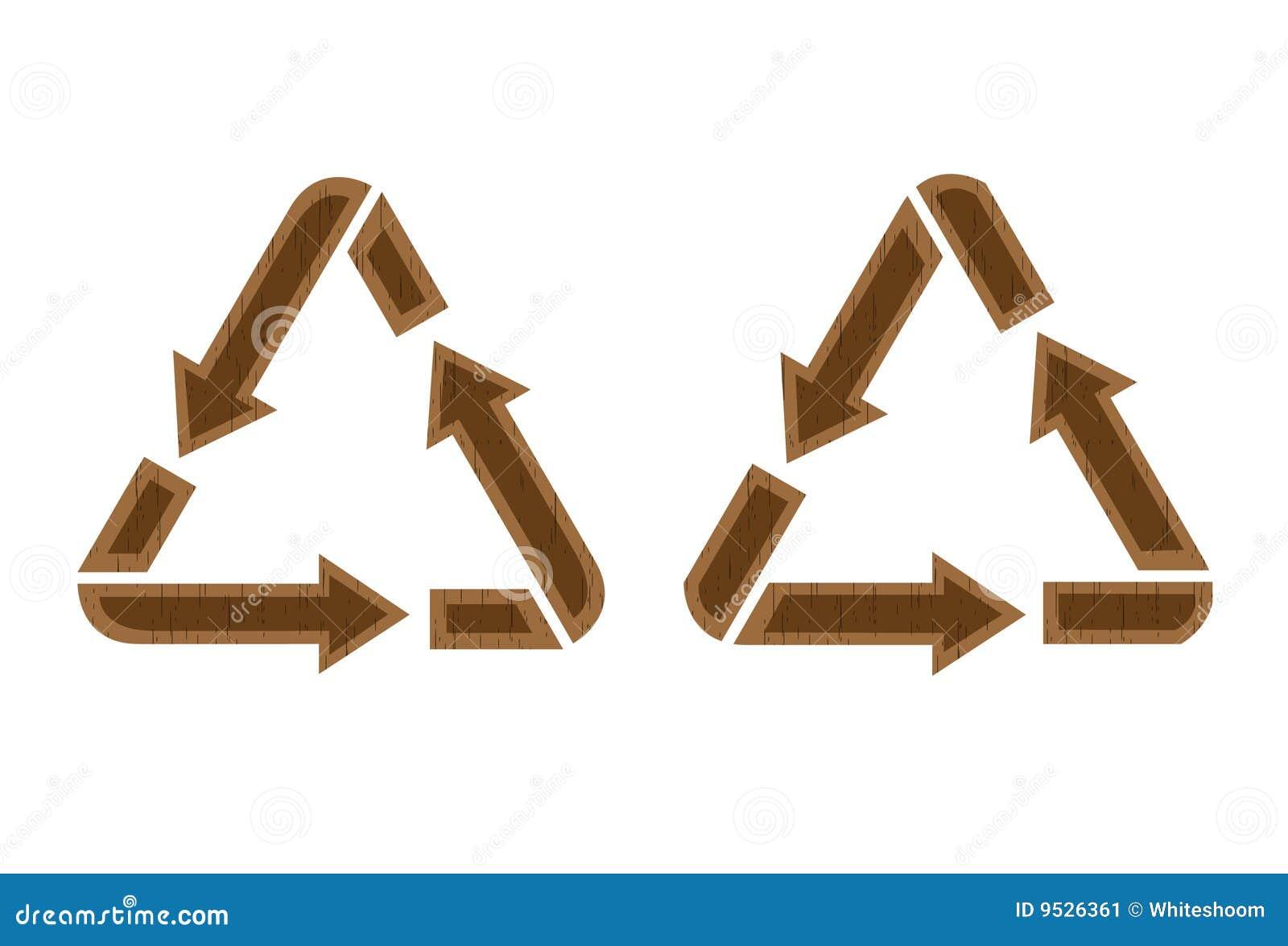 Icono de reciclaje de madera imagen de archivo imagen 9526361 - Reciclaje de la madera ...
