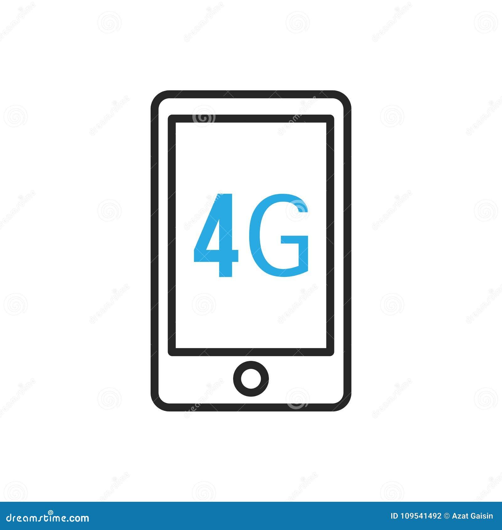 Icono De Smartphone Velocidad De Conexión Móvil De Cuarta Generación ...