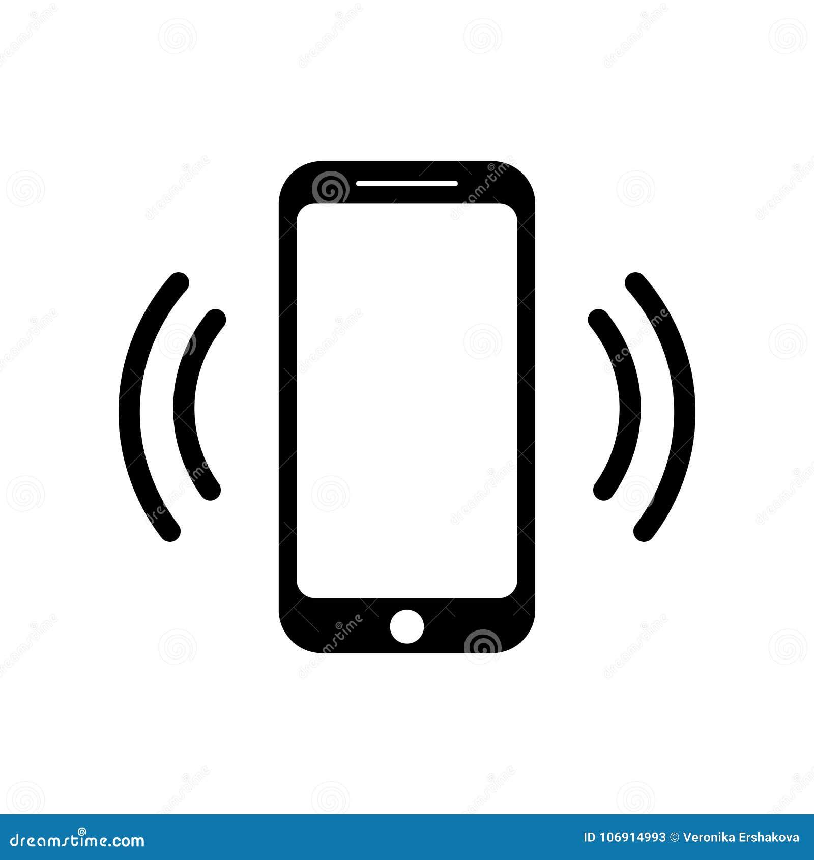 Icono de sonido de la llamada de teléfono móvil del icono del smartphone