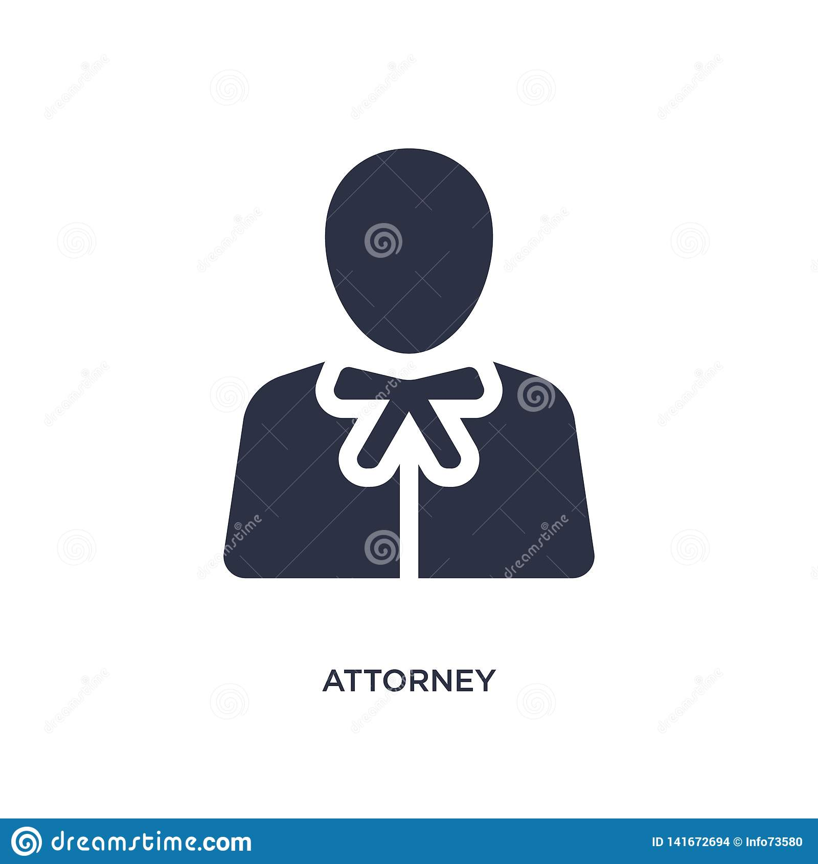 Icono del abogado en el fondo blanco Ejemplo simple del elemento del concepto de la ley y de la justicia