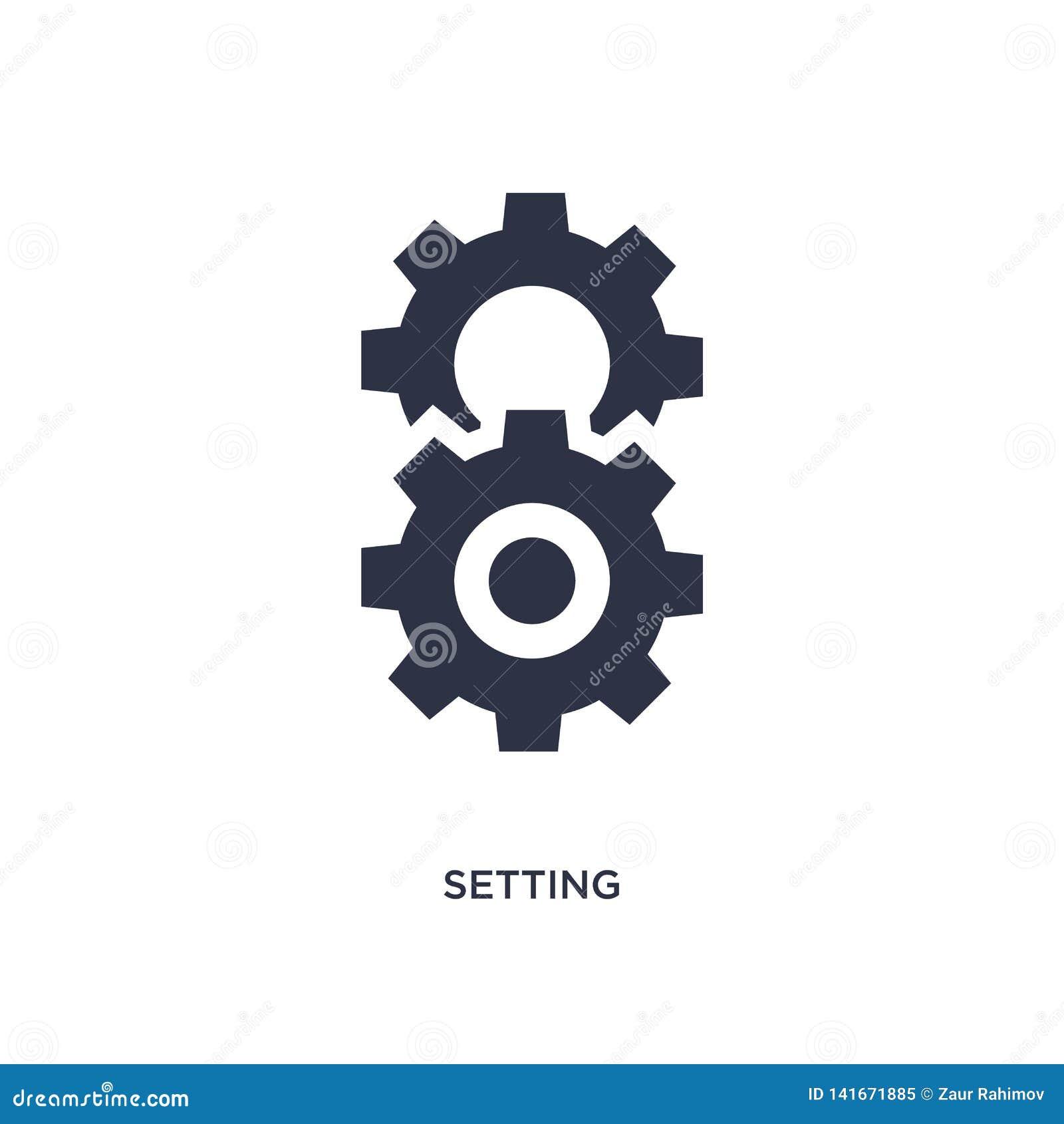 Icono del ajuste en el fondo blanco Ejemplo simple del elemento del concepto de los éticas