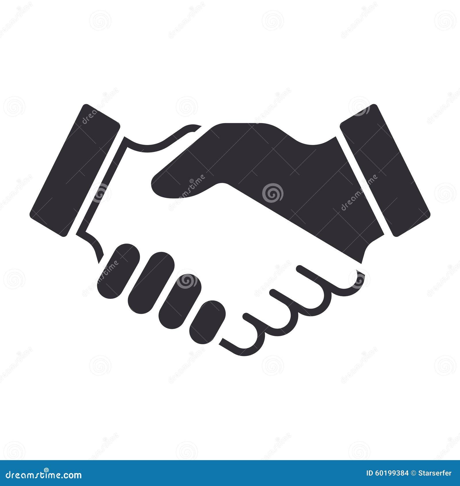 Icono del apretón de manos