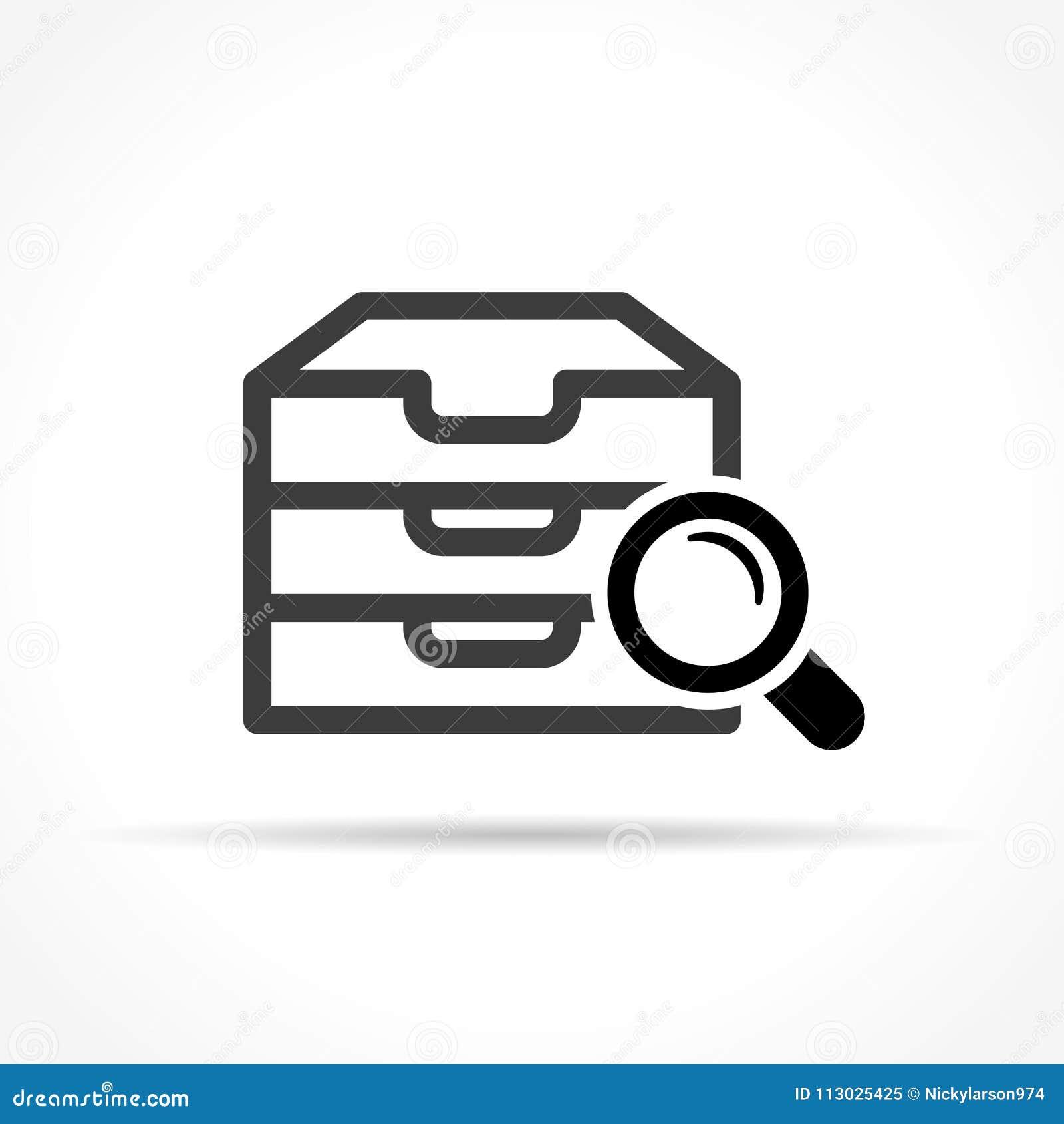 Icono del archivo en el fondo blanco