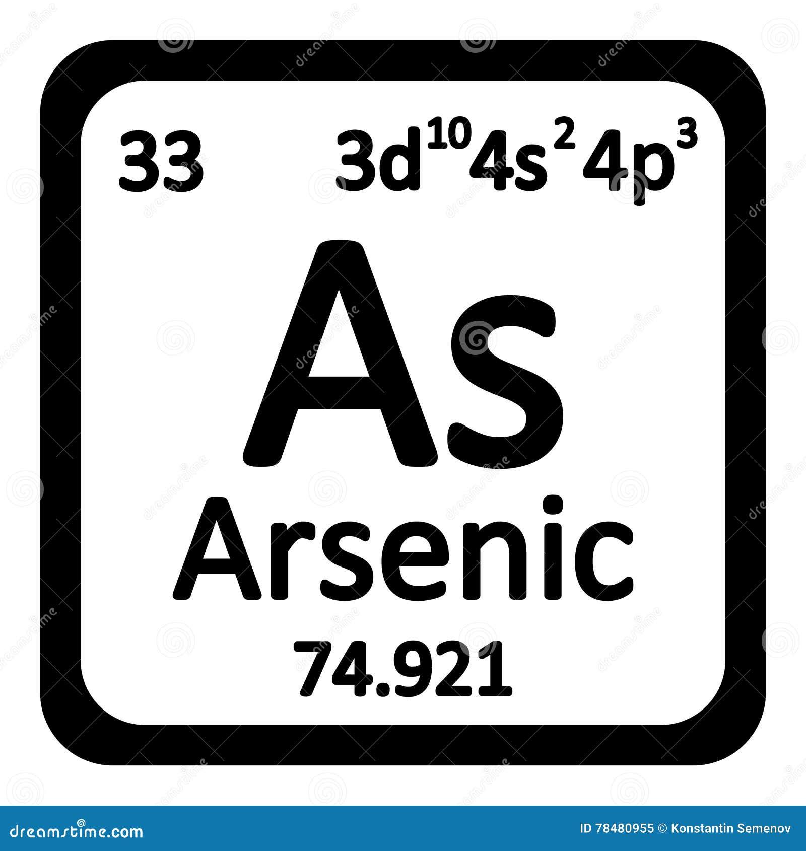 Icono del arsnico del elemento de tabla peridica stock de icono del arsnico del elemento de tabla peridica urtaz Choice Image