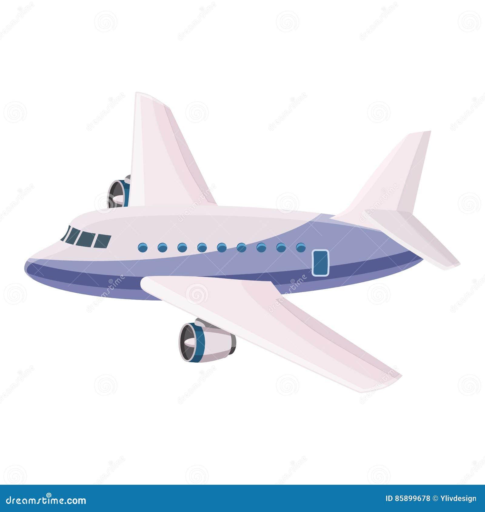 Icono del avión de pasajeros del pasajero, estilo de la historieta