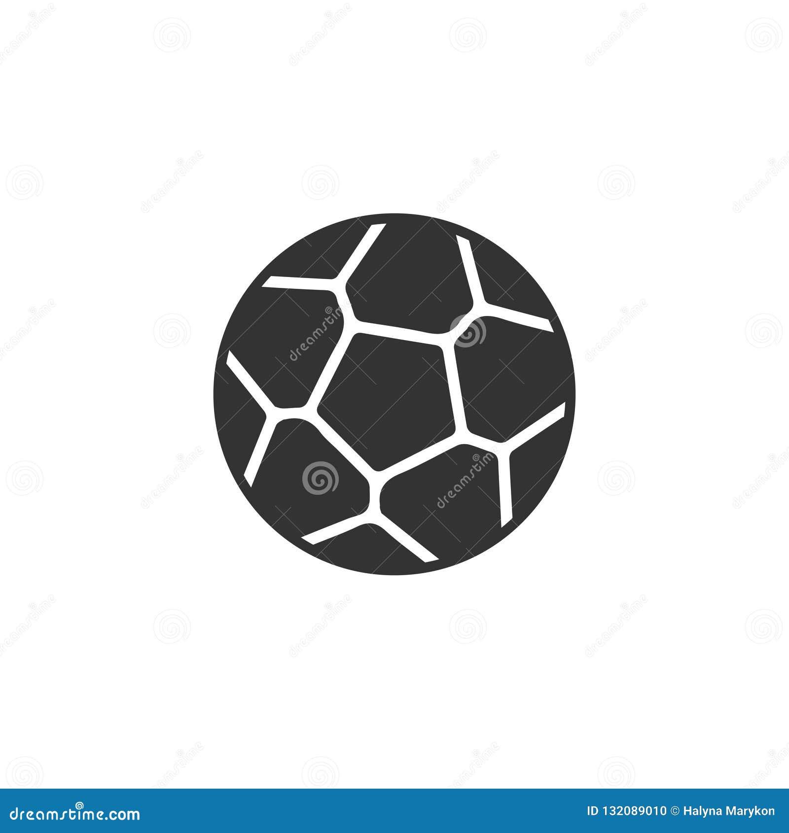 Icono del balón de fútbol plano