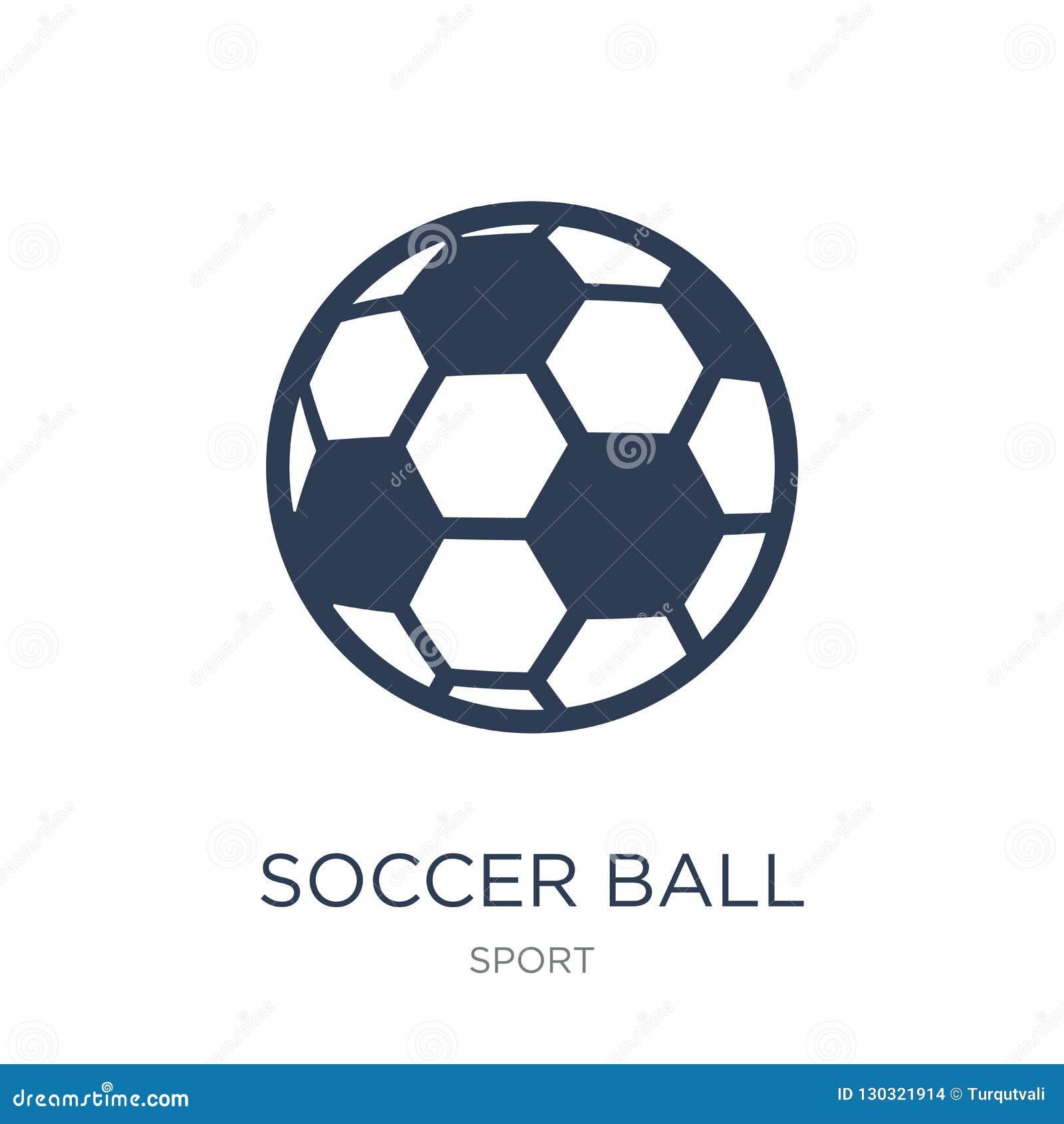 Icono del balón de fútbol Icono plano de moda del balón de fútbol del vector en b blanco