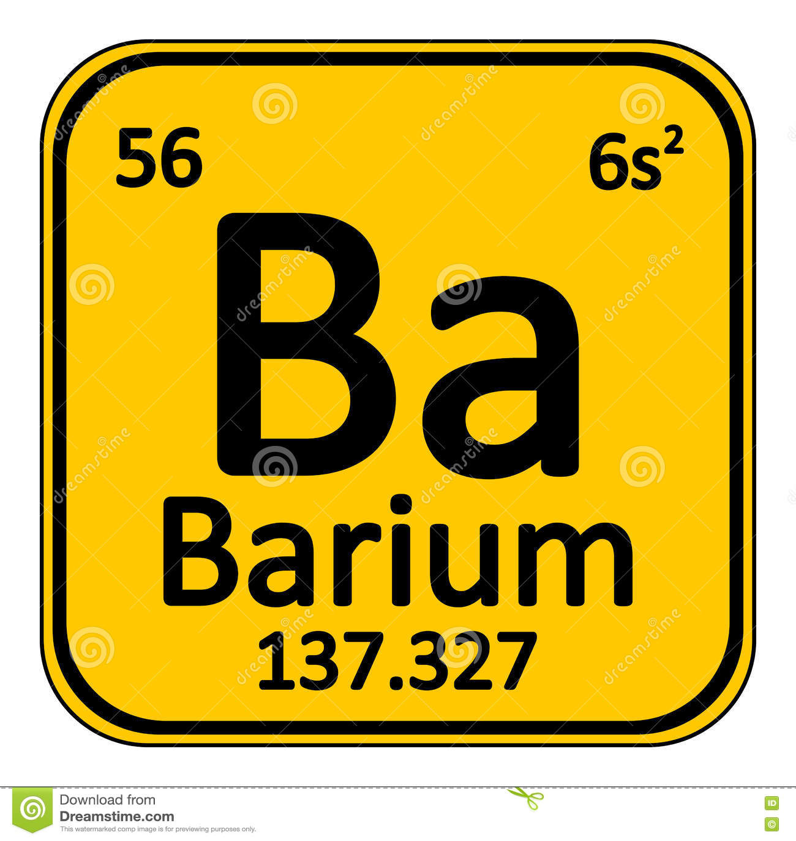 Icono del bario del elemento de tabla peridica stock de icono del bario del elemento de tabla peridica urtaz Images