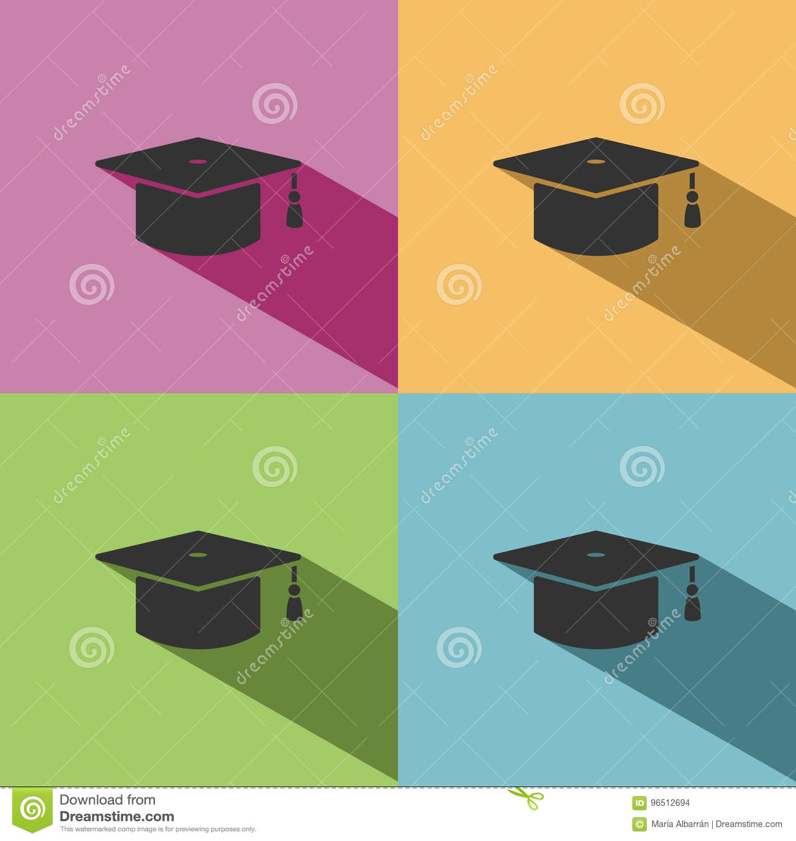 Icono Del Birrete Para El Graduado Ilustración Del Vector