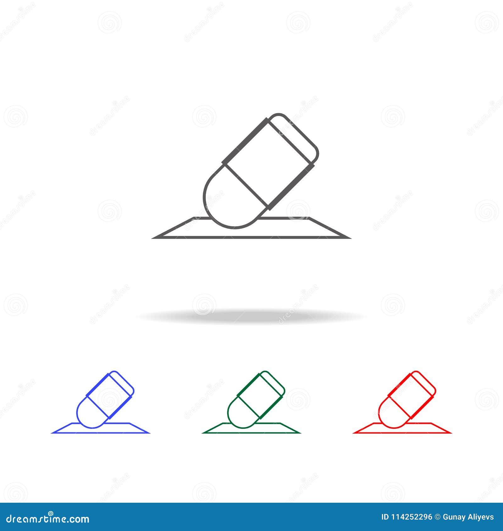 Icono Del Borrador Elementos De Los Iconos Coloreados Multi