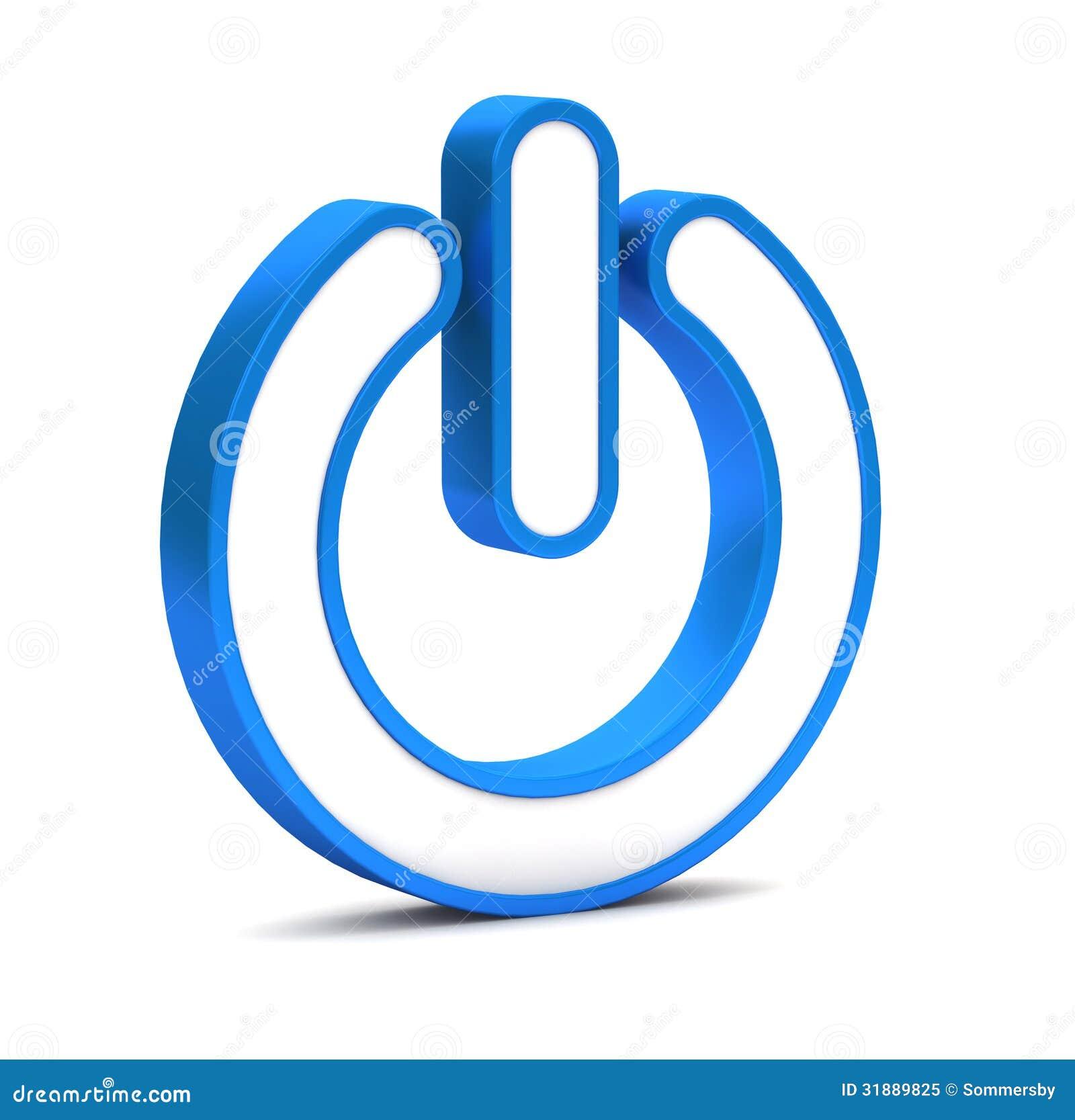 Icono del bot n de encendido foto de archivo libre de for Icono boton