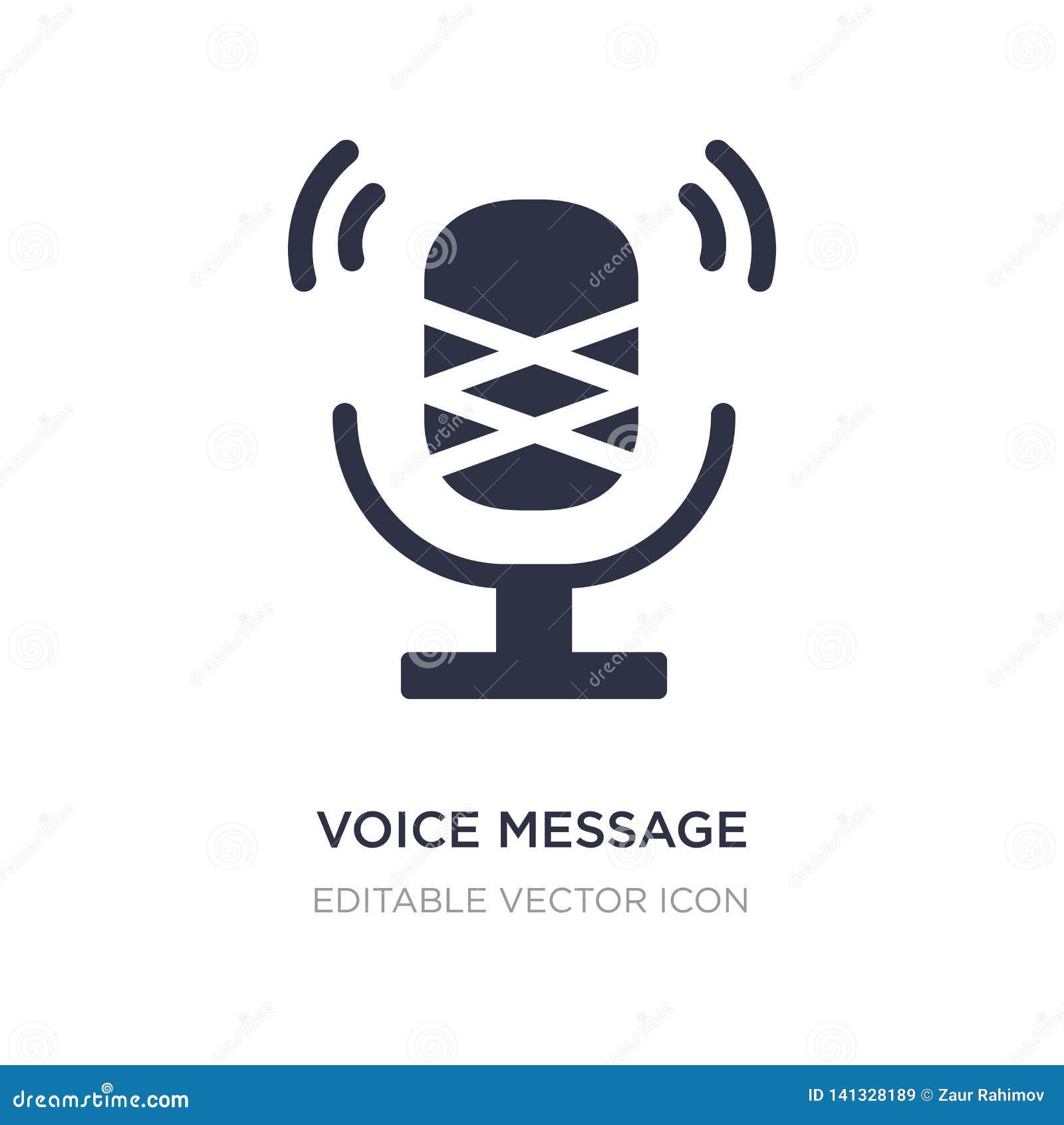 Icono del botón del micrófono del mensaje de la voz en el fondo blanco Ejemplo simple del elemento del concepto de UI