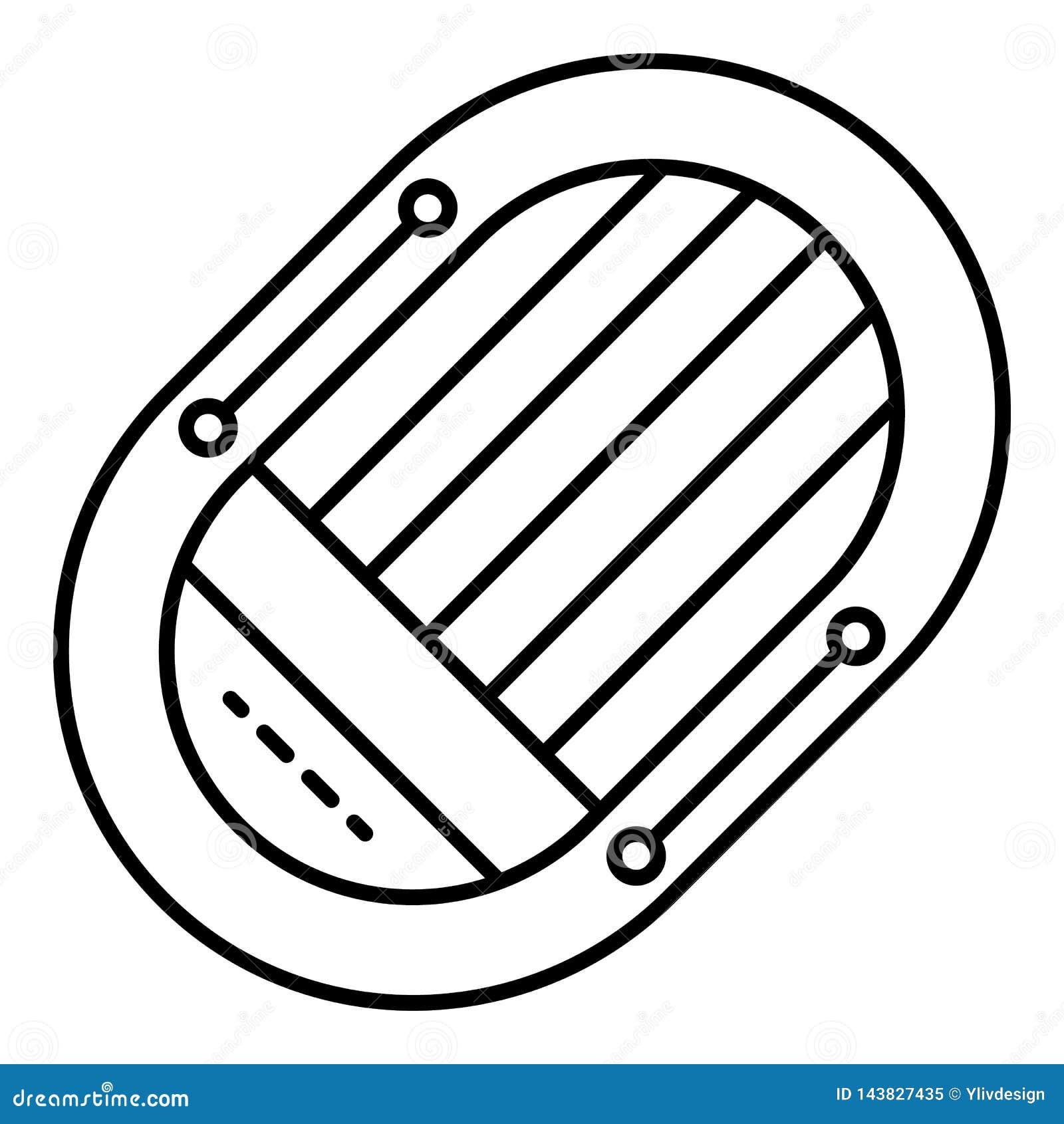 Icono del bote de salvamento, estilo del esquema