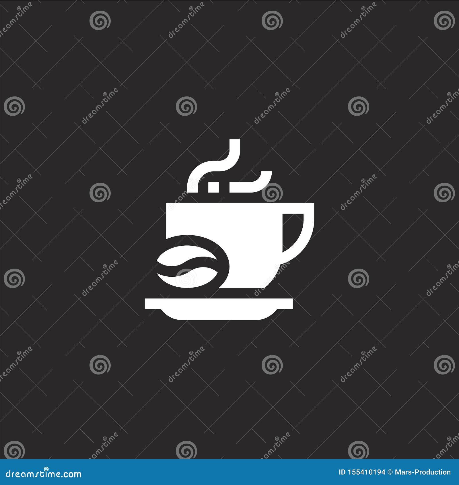 Icono del caf? Icono llenado del café para el diseño y el móvil, desarrollo de la página web del app icono del café de aficiones